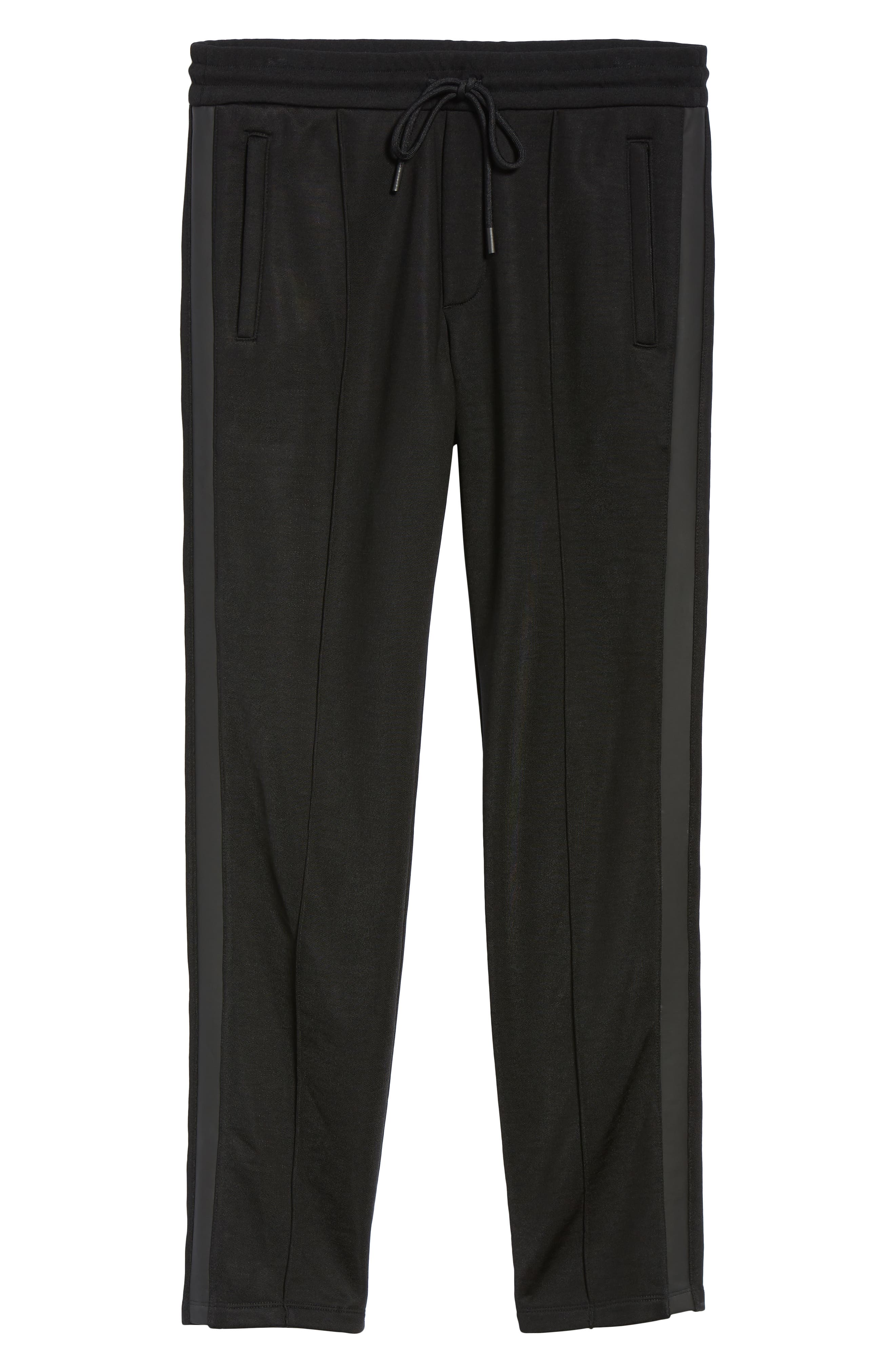 Heat Seal Classic Track Pants,                             Alternate thumbnail 6, color,                             BLACK