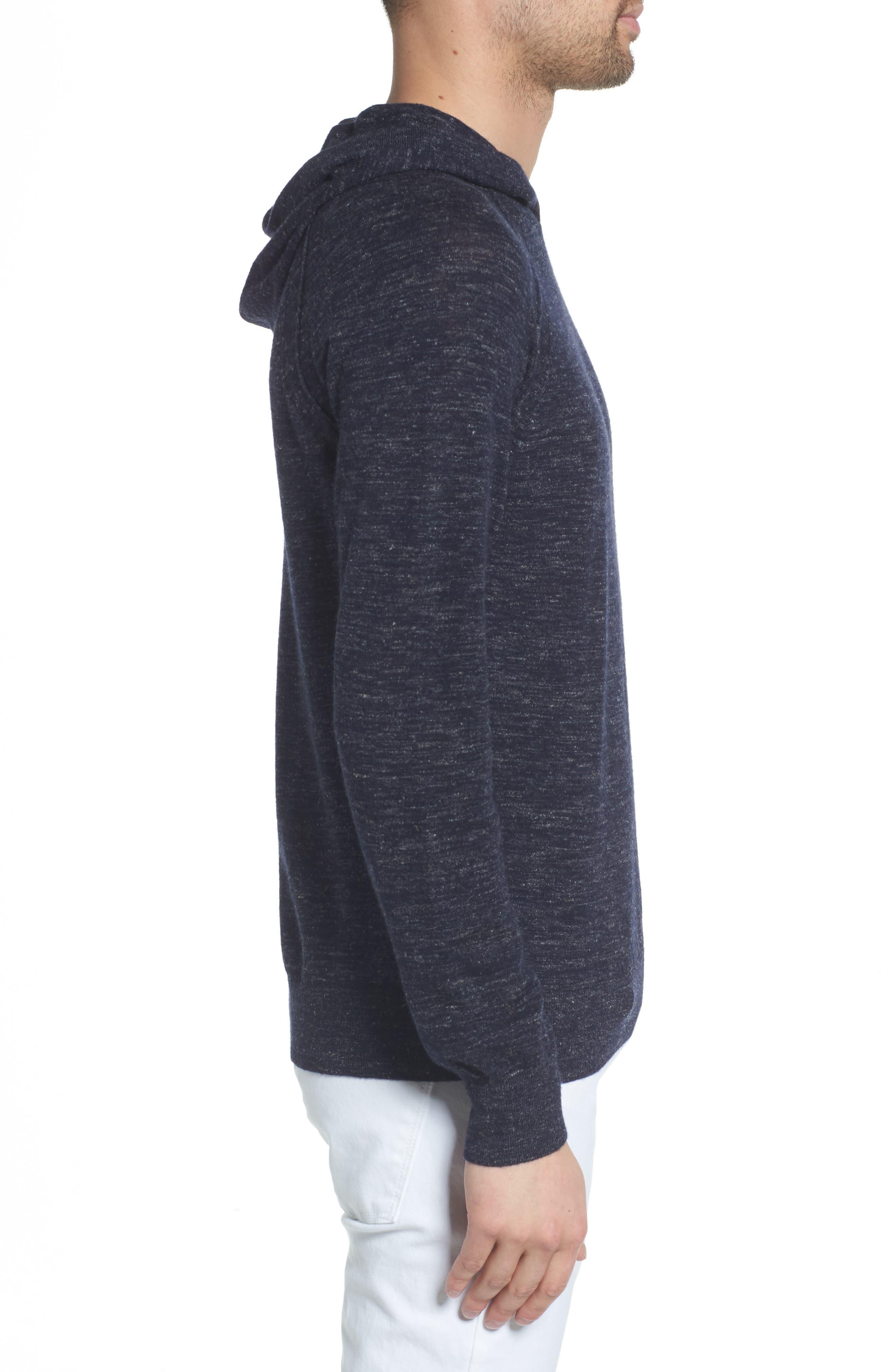 Long Sleeve Pullover Hoodie,                             Alternate thumbnail 3, color,                             NEW COASTAL