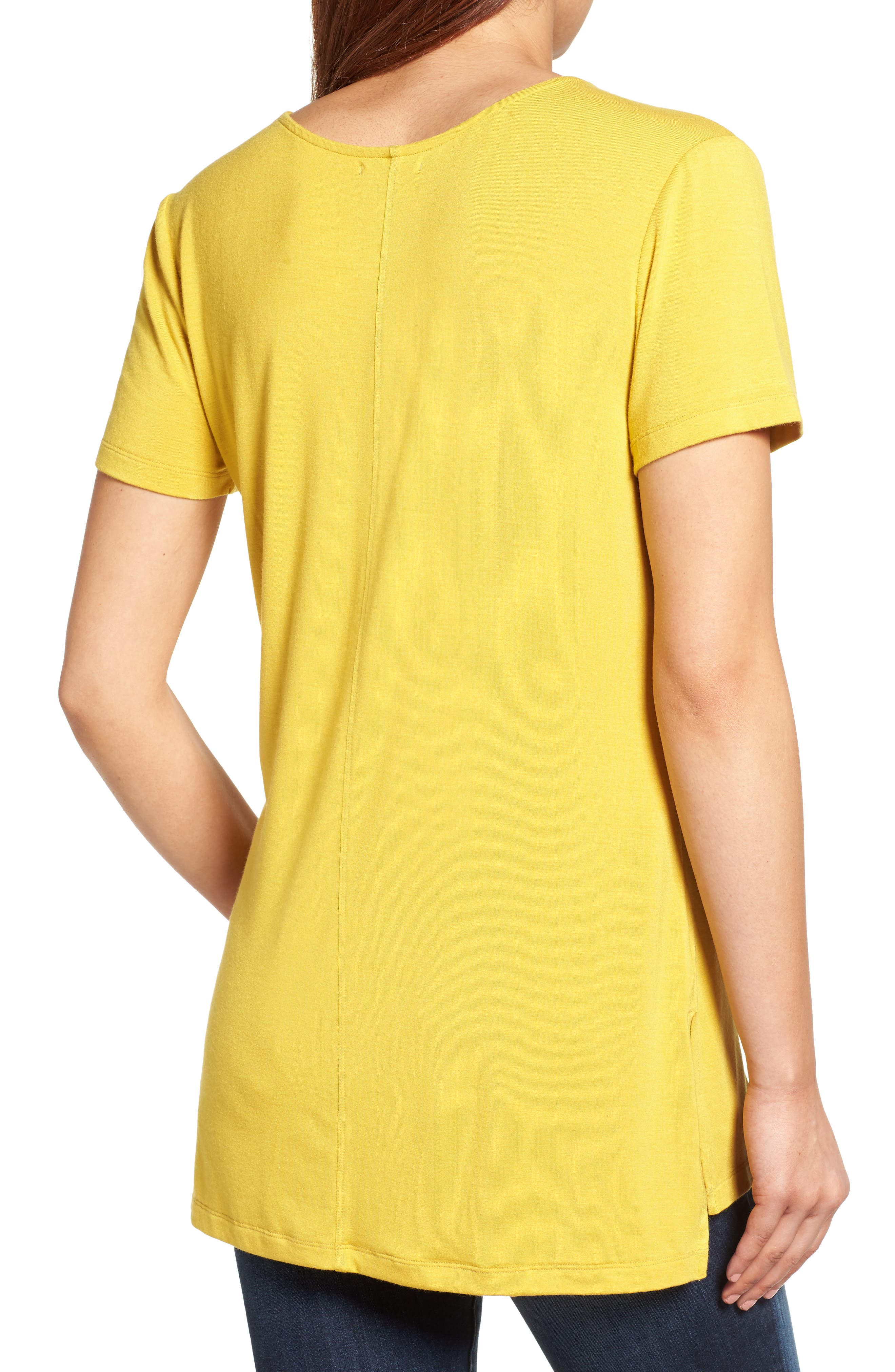 V-Neck Tunic Tee,                             Alternate thumbnail 23, color,