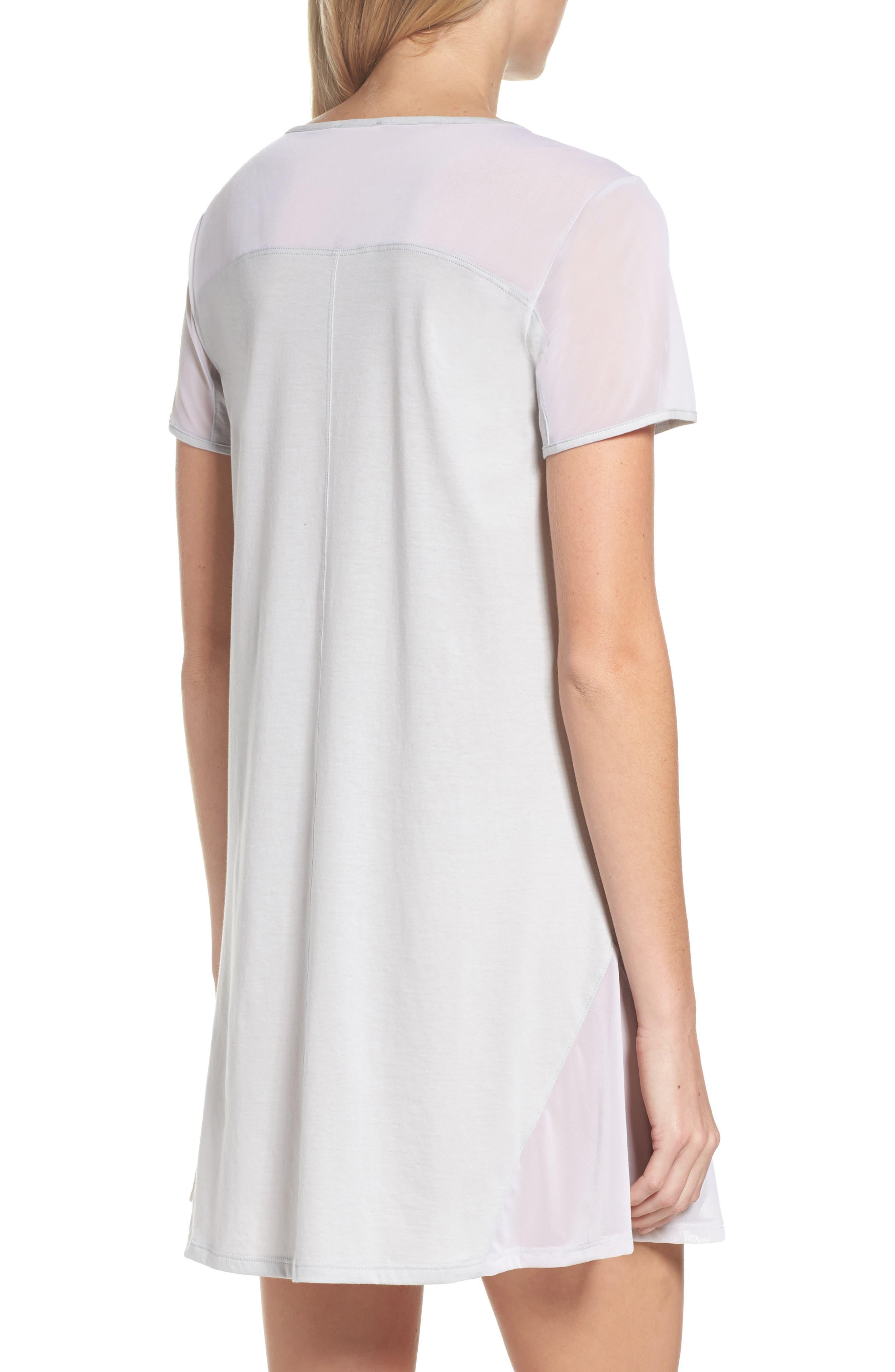 Cotton Sleep Shirt,                             Alternate thumbnail 2, color,                             SOFT GRAY
