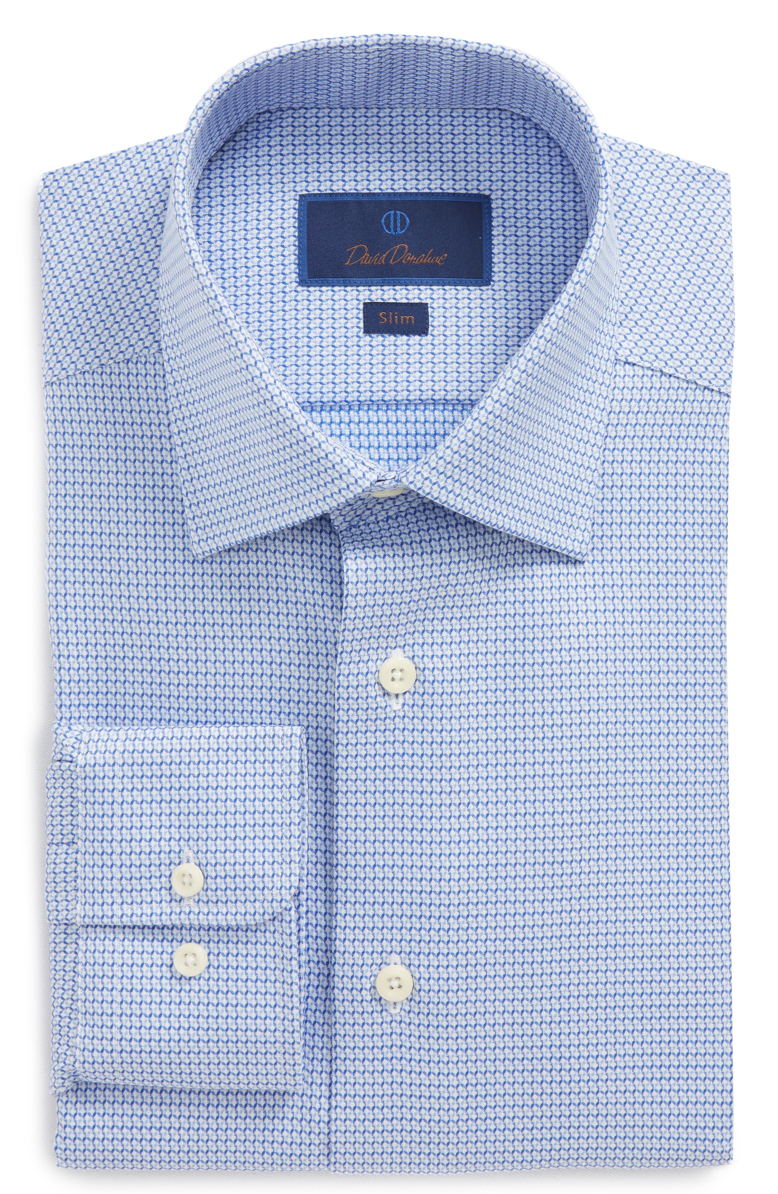Slim Fit Geometric Dress Shirt,                         Main,                         color, 423