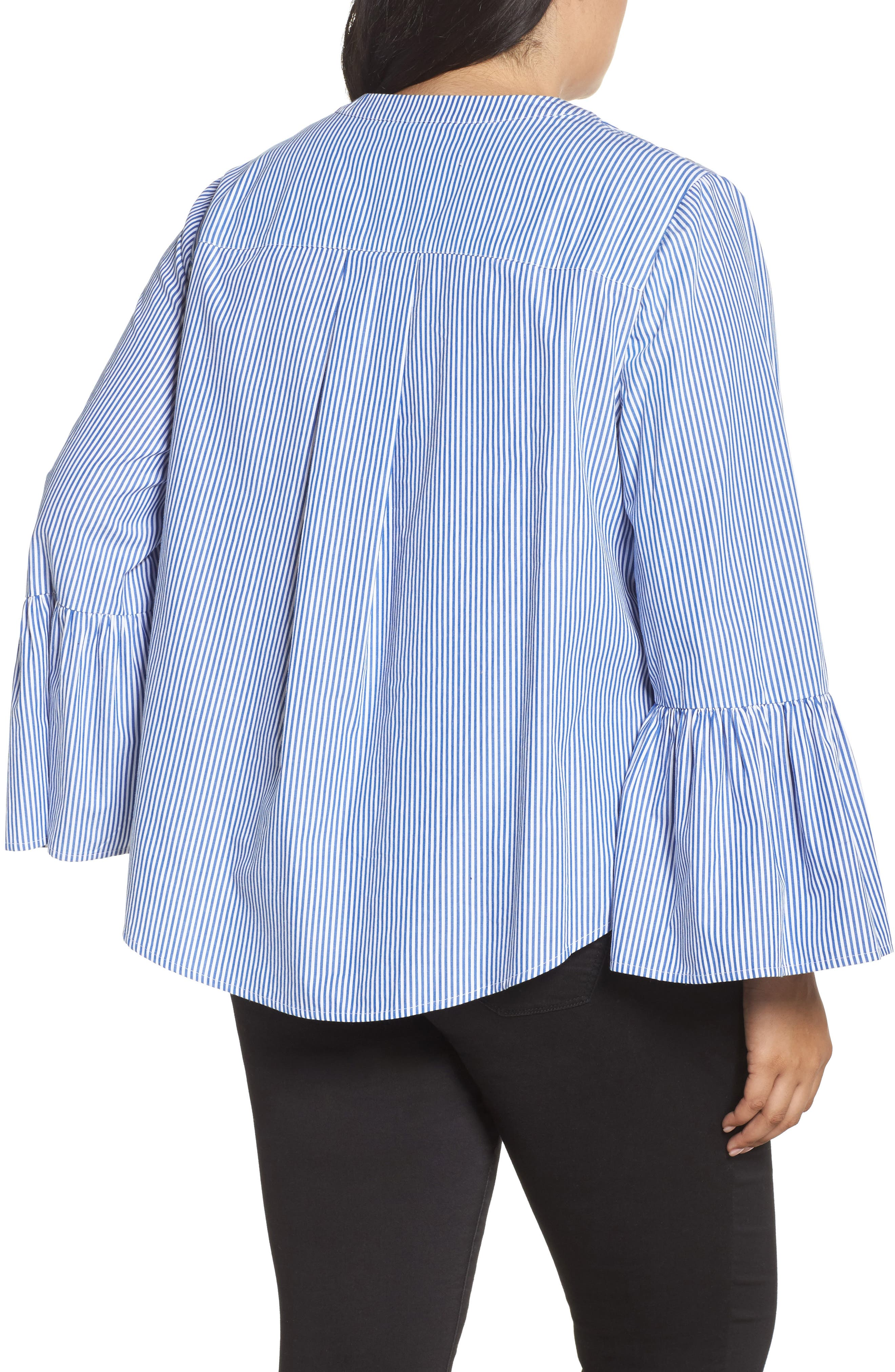 Embroidered Bell Sleeve Top,                             Alternate thumbnail 2, color,                             420