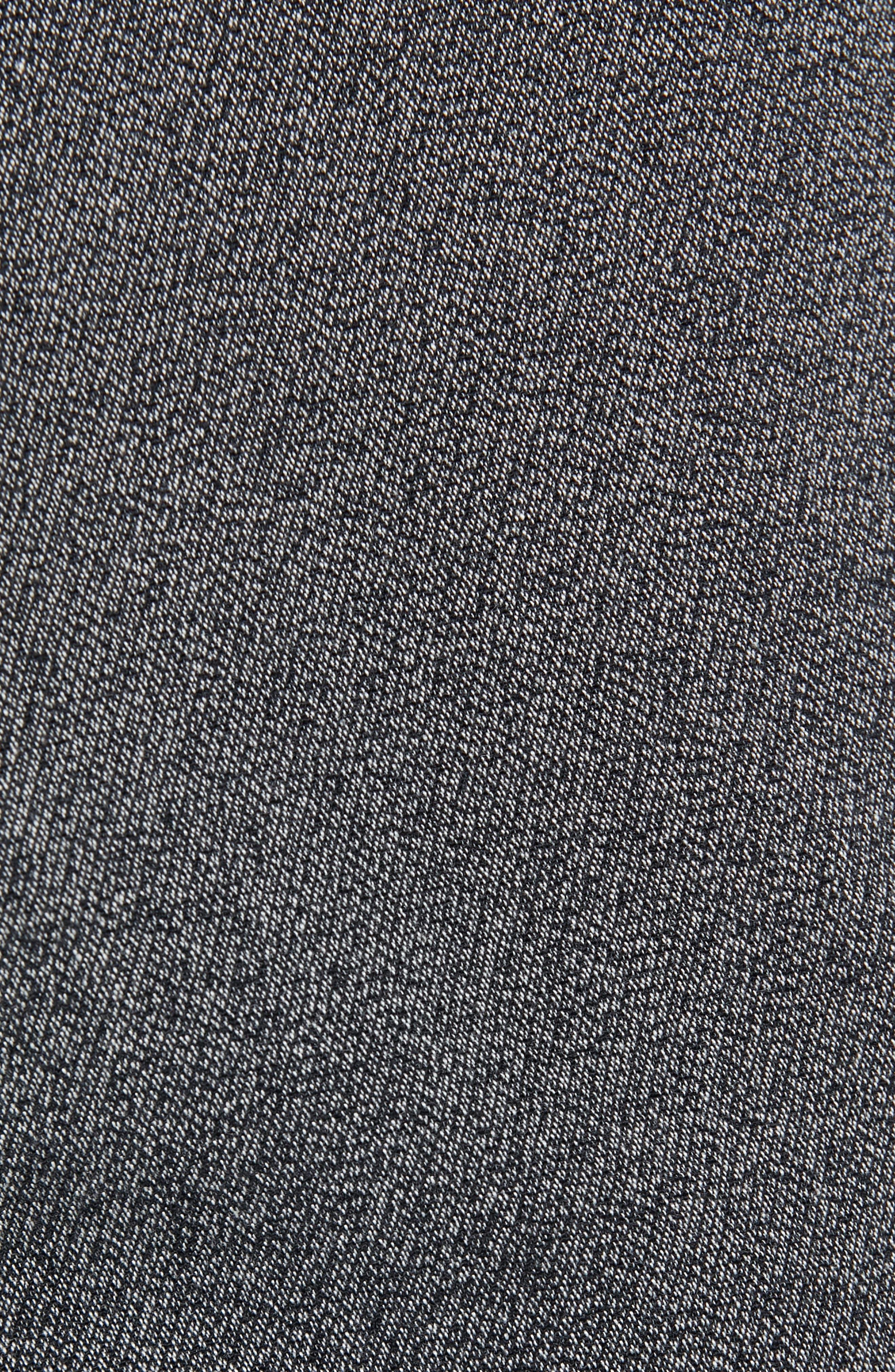 Kaito Slim Fit Twill Trousers,                             Alternate thumbnail 5, color,                             BLACK