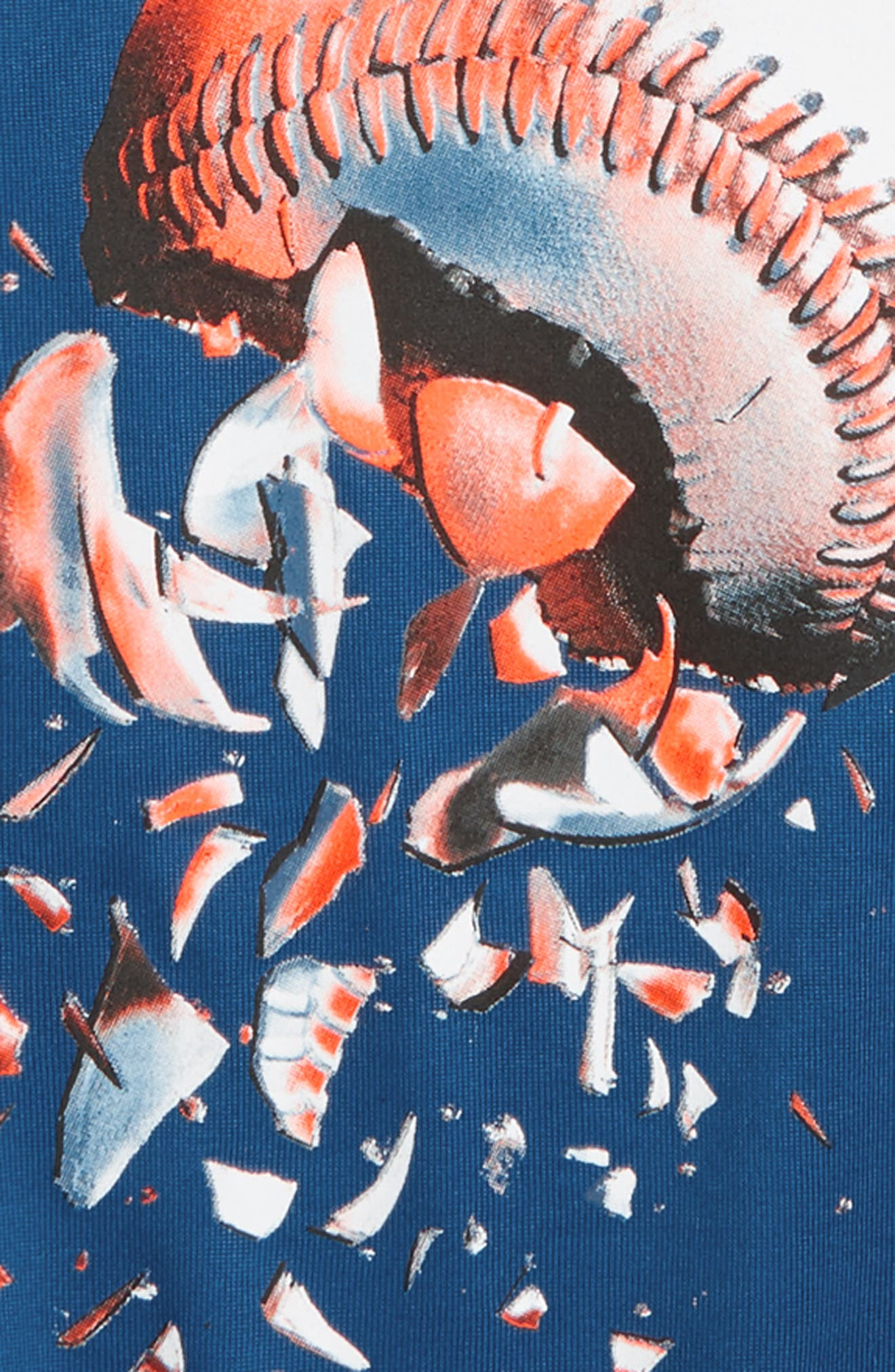 Baseball Explosion HeatGear<sup>®</sup> T-Shirt,                             Alternate thumbnail 2, color,                             401