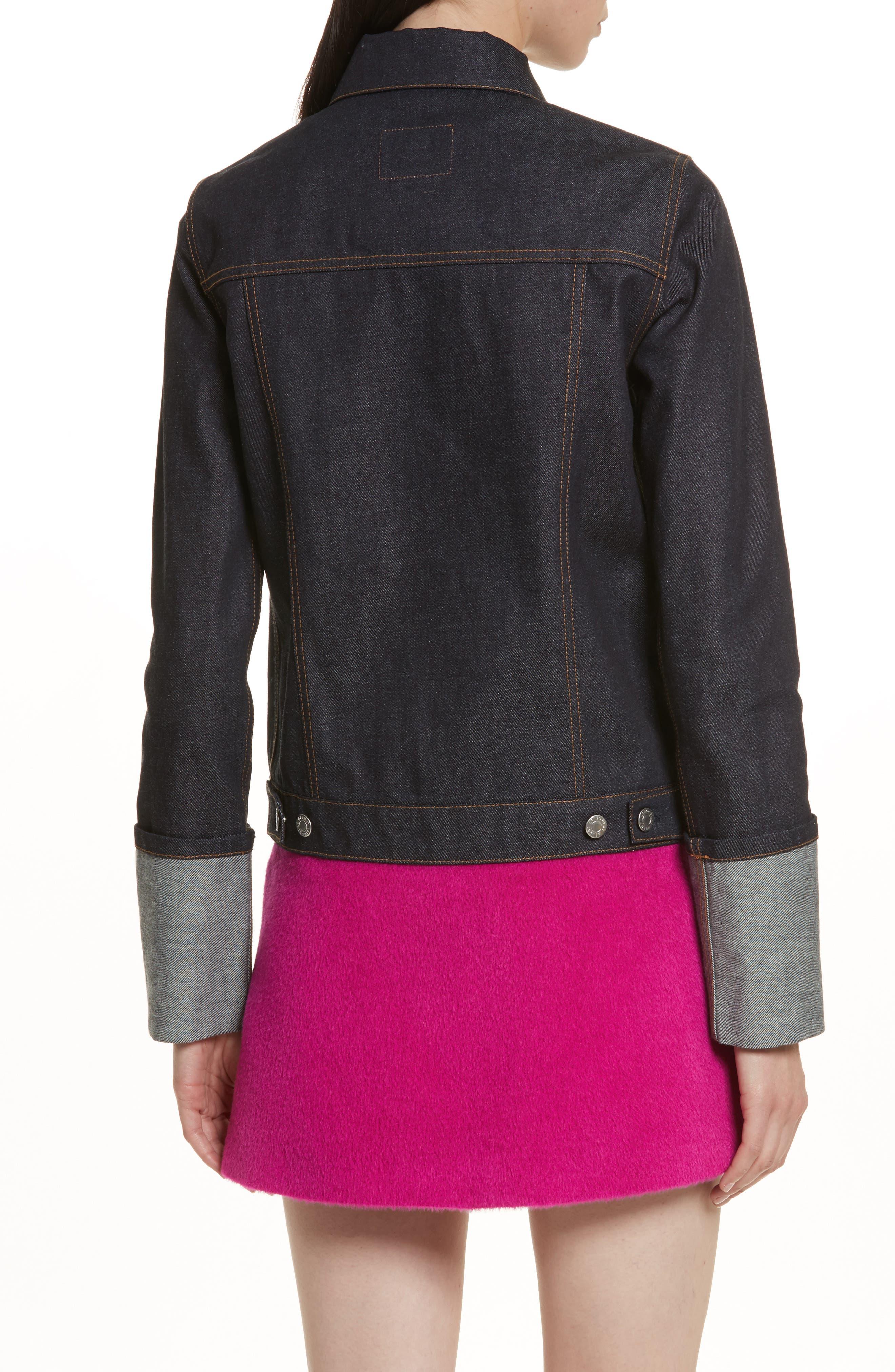 Re-Edition Zip Denim Jacket,                             Alternate thumbnail 2, color,                             401