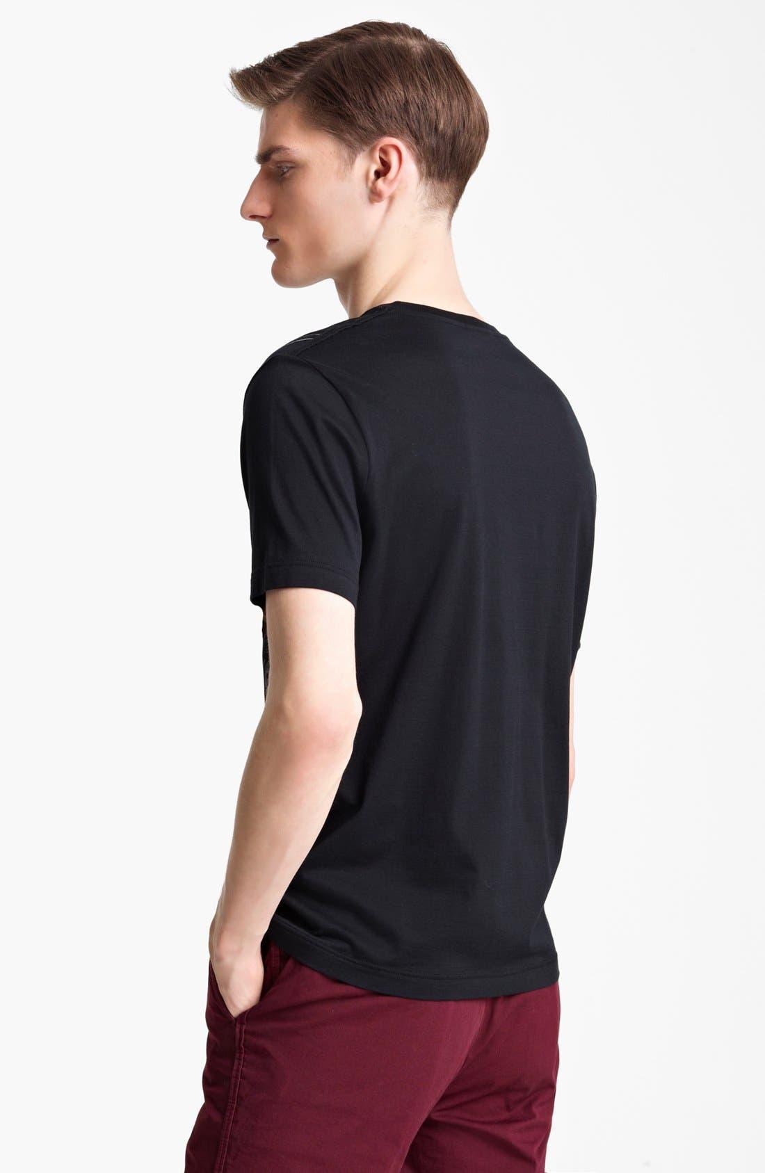LANVIN,                             'Reverse Paris' Graphic T-Shirt,                             Alternate thumbnail 3, color,                             001
