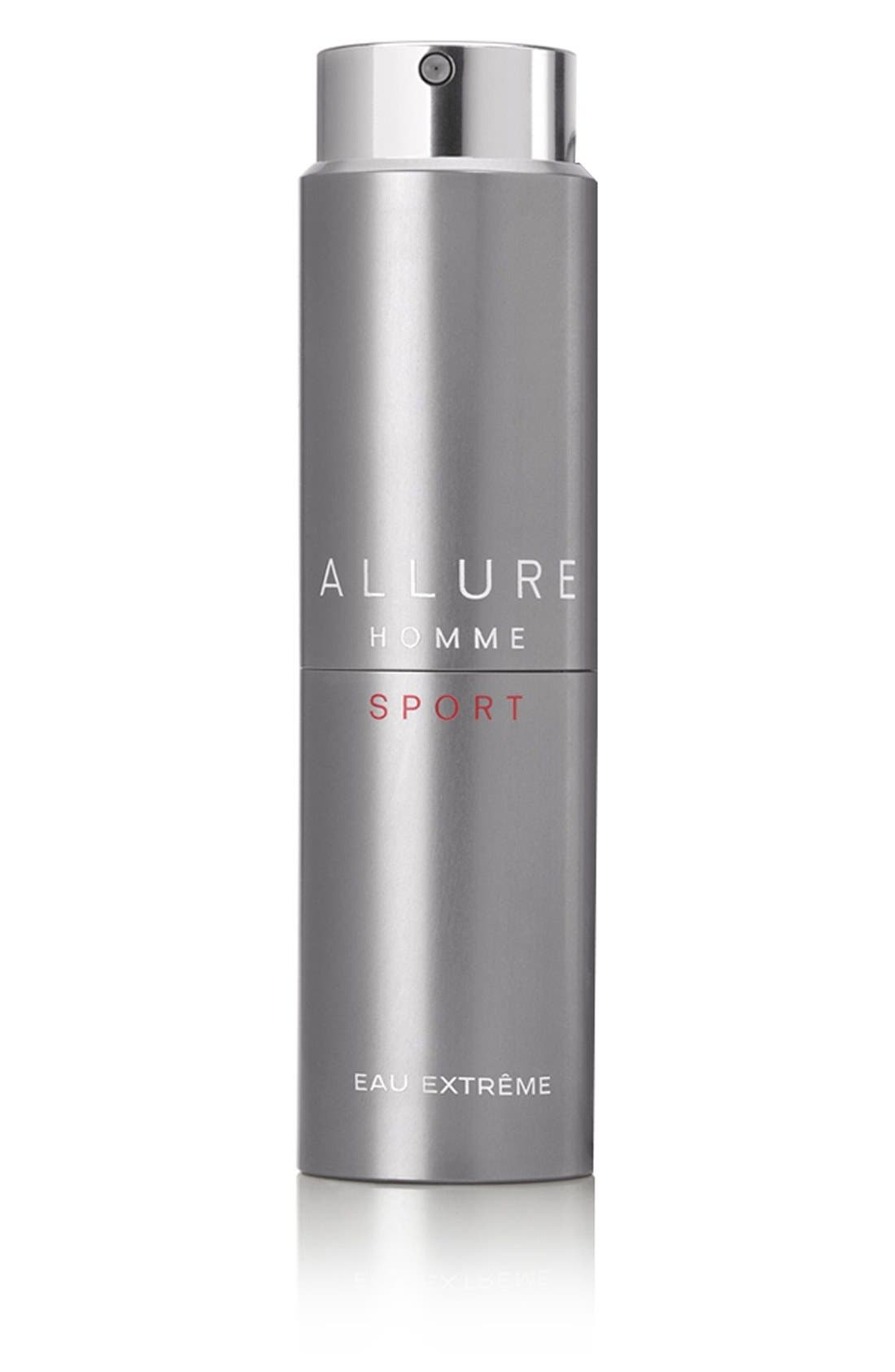ALLURE HOMME SPORT Eau Extrême Refillable Travel Spray,                             Main thumbnail 1, color,                             NO COLOR