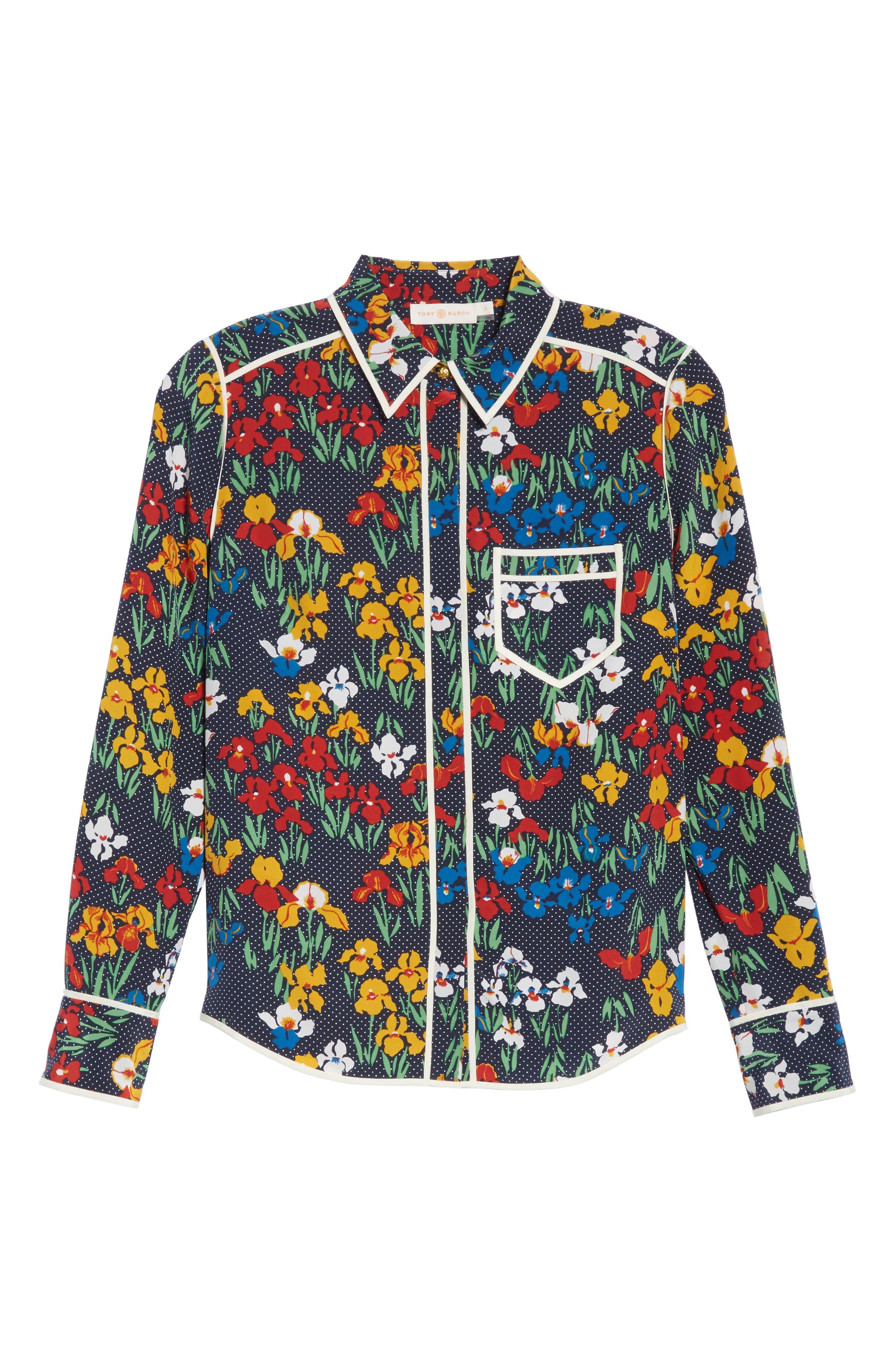 Jackie Silk Shirt,                             Alternate thumbnail 12, color,
