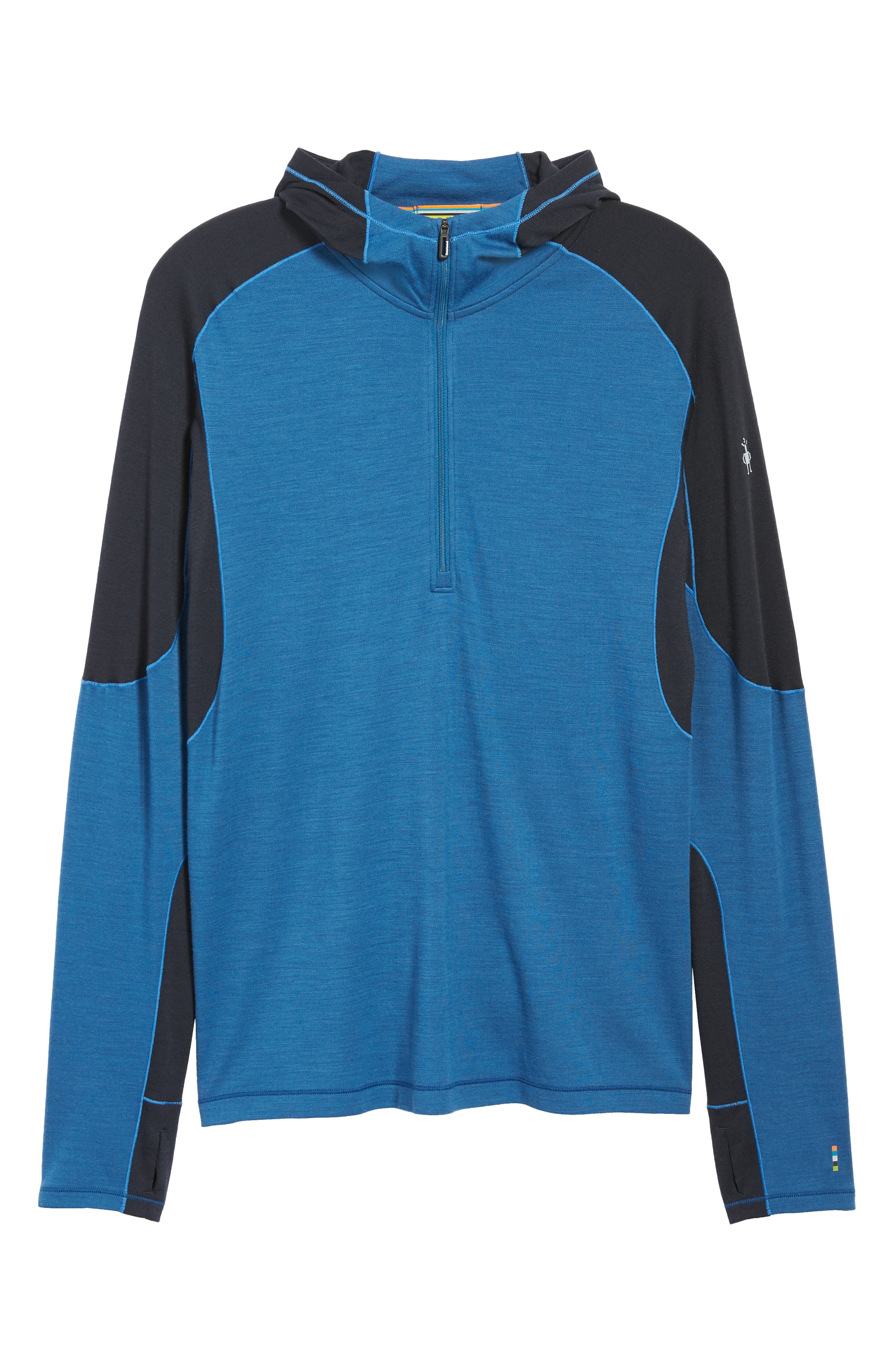 PhD<sup>®</sup> Light Merino Wool Blend Hooded Pullover,                             Alternate thumbnail 6, color,                             BRIGHT COBALT HEATHER