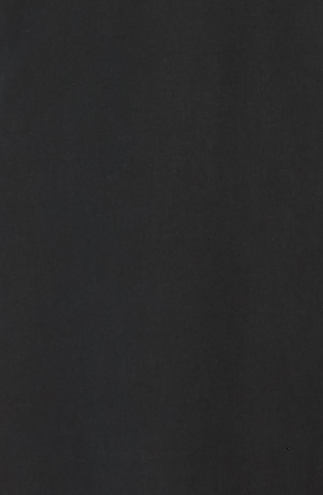Catalina Stretch Silk Blend Camp Shirt,                             Alternate thumbnail 6, color,                             BLACK