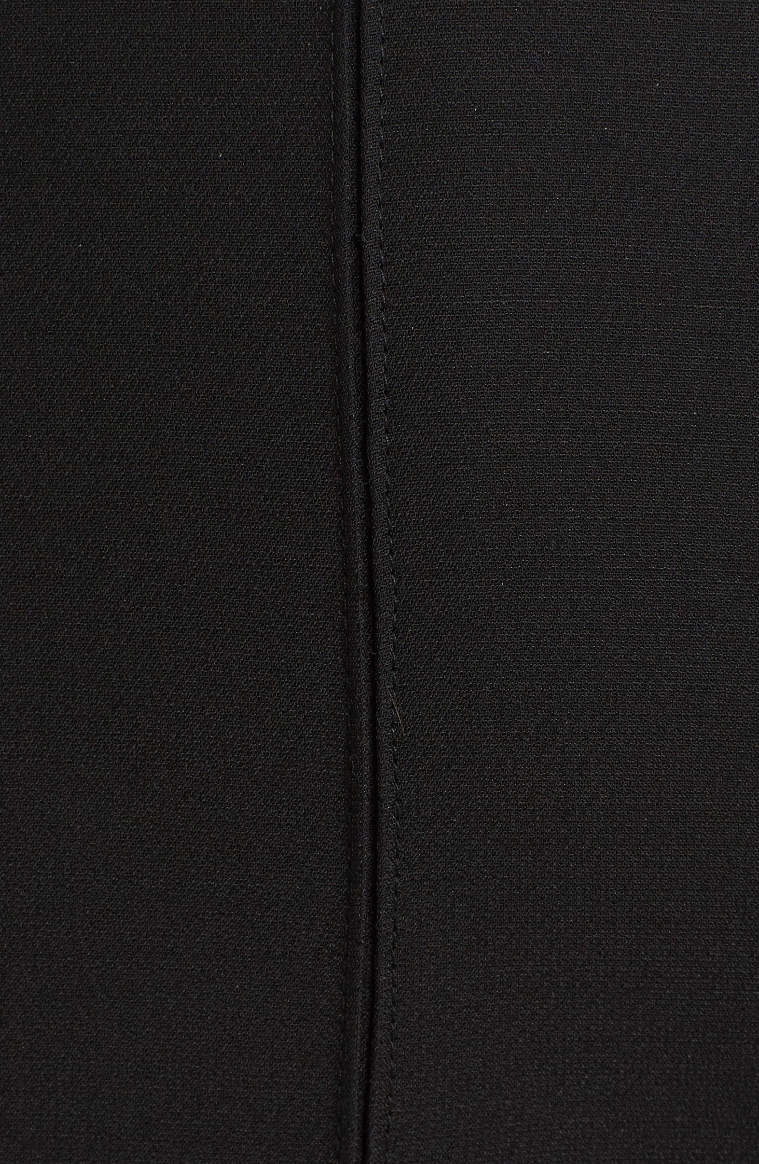 Bib Front Wool & Silk Dress,                             Alternate thumbnail 5, color,                             003