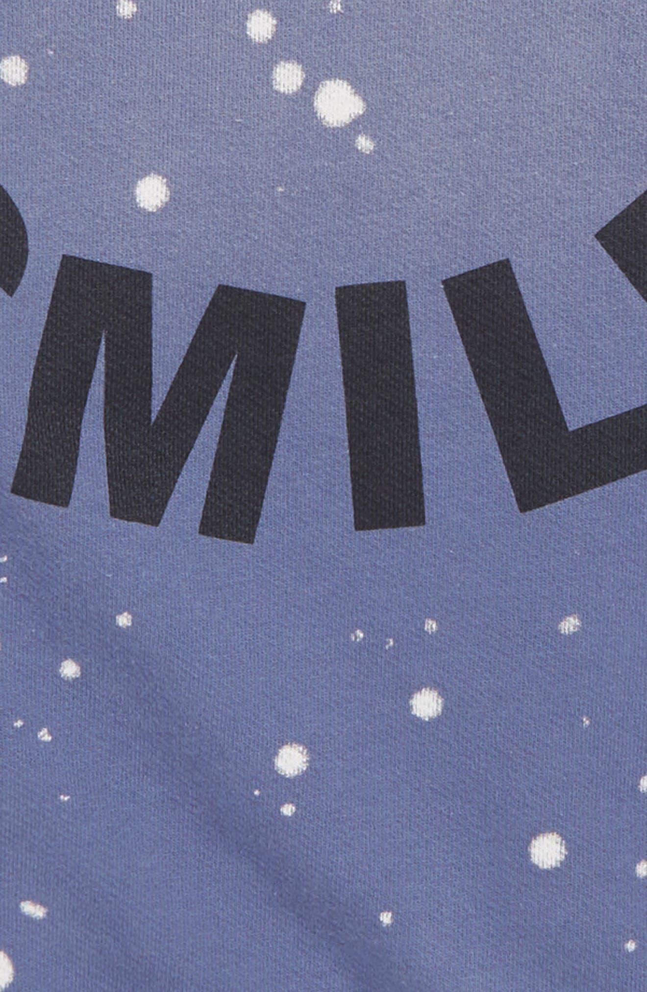 CREWCUTS BY J.CREW,                             Smile Sweatshirt,                             Alternate thumbnail 2, color,                             TWILIGHT