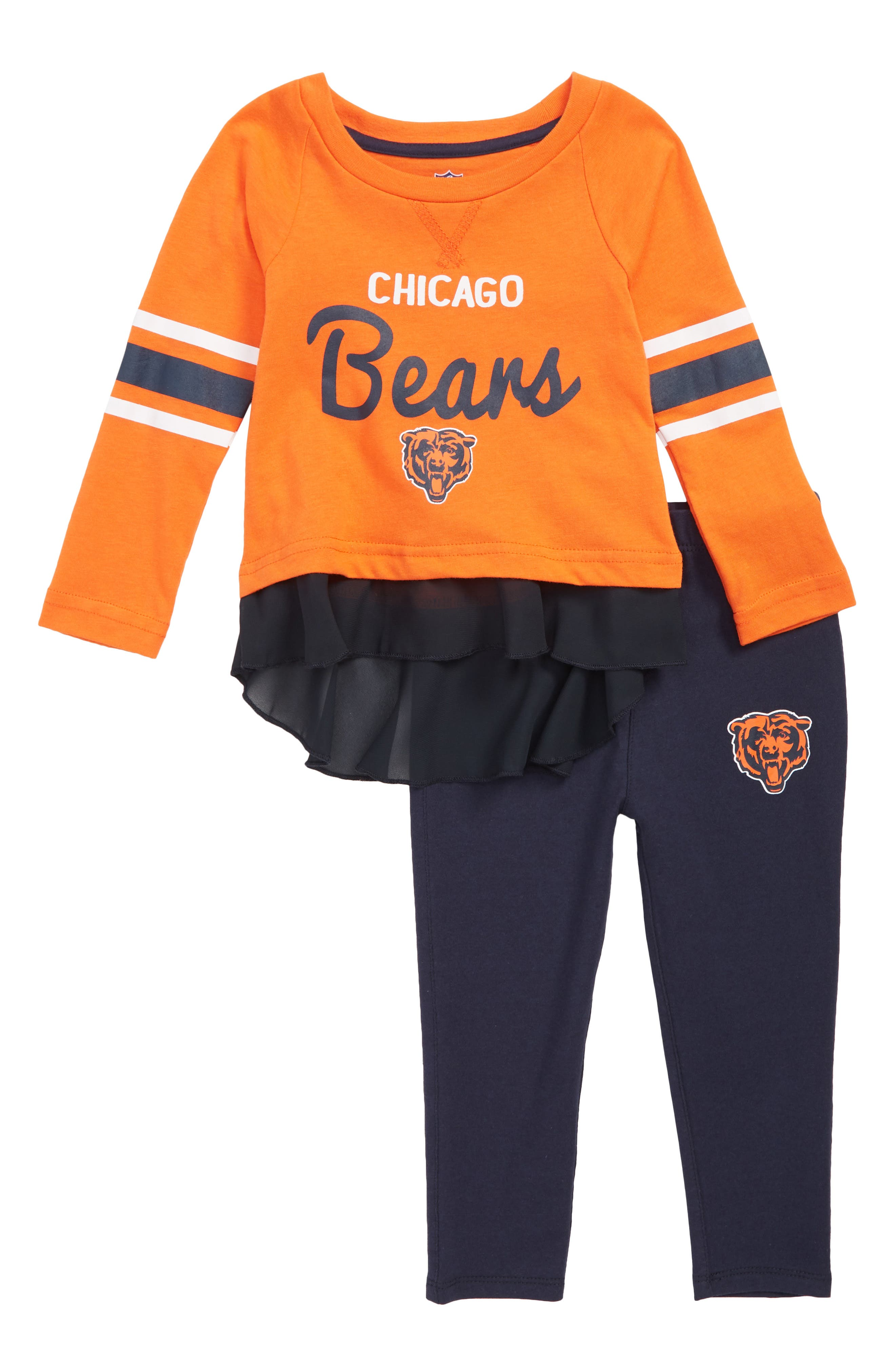 NFL Team Logo Top & Leggings Set,                         Main,                         color, BEARS ORANGE