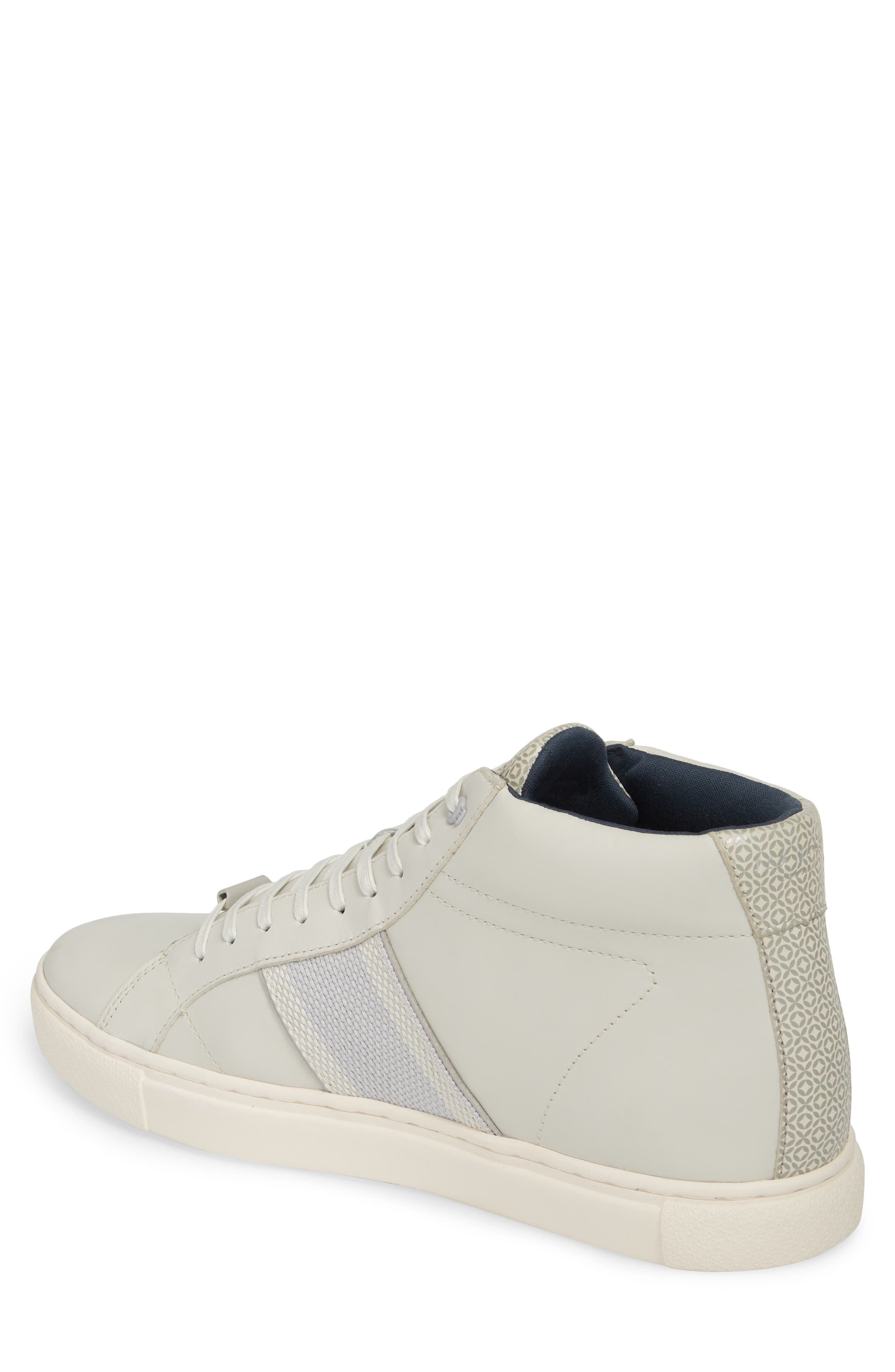 Cruuw High Top Sneaker,                             Alternate thumbnail 2, color,                             WHITE LEATHER