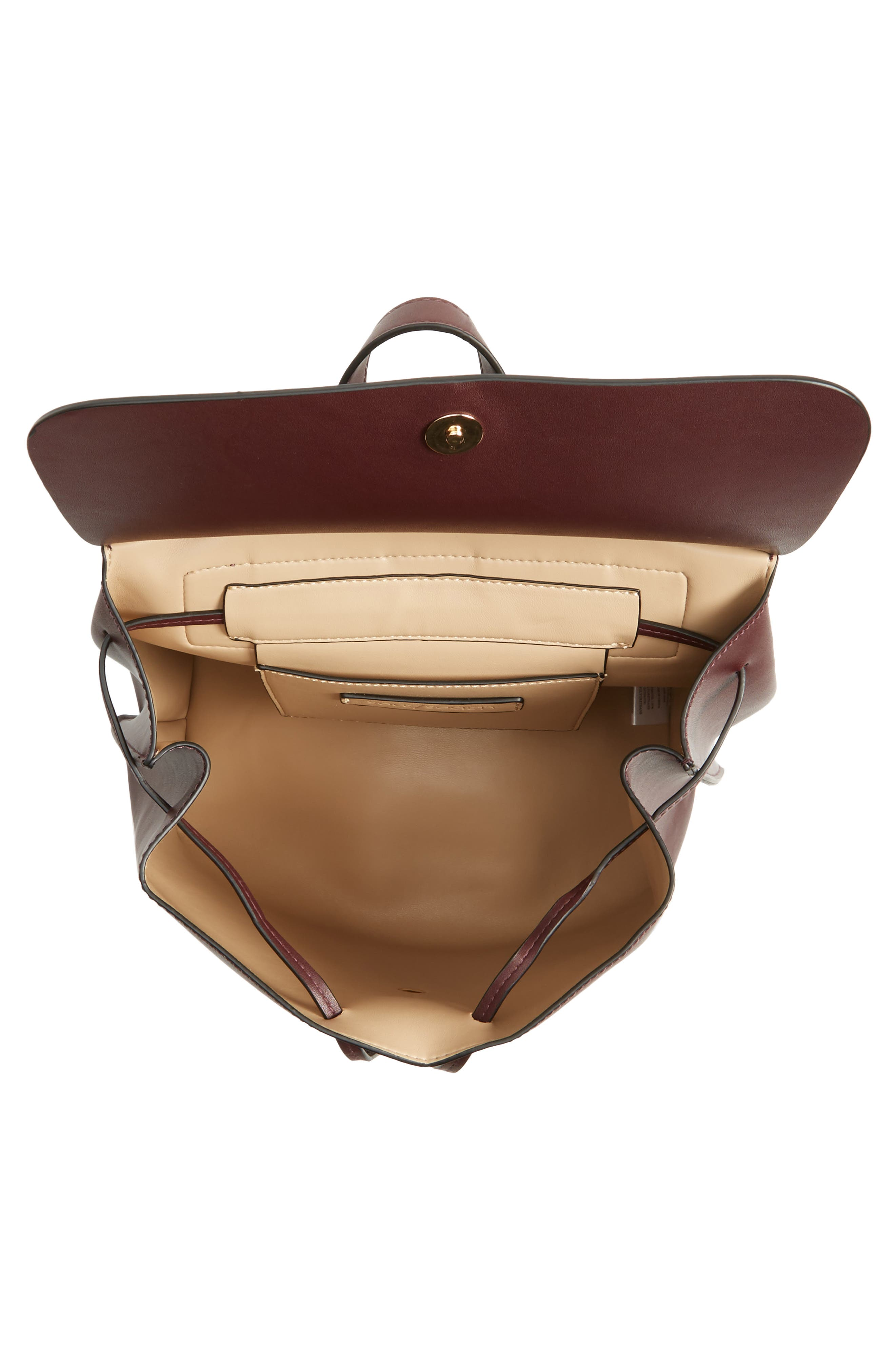 Selena Faux Leather Backpack,                             Alternate thumbnail 16, color,