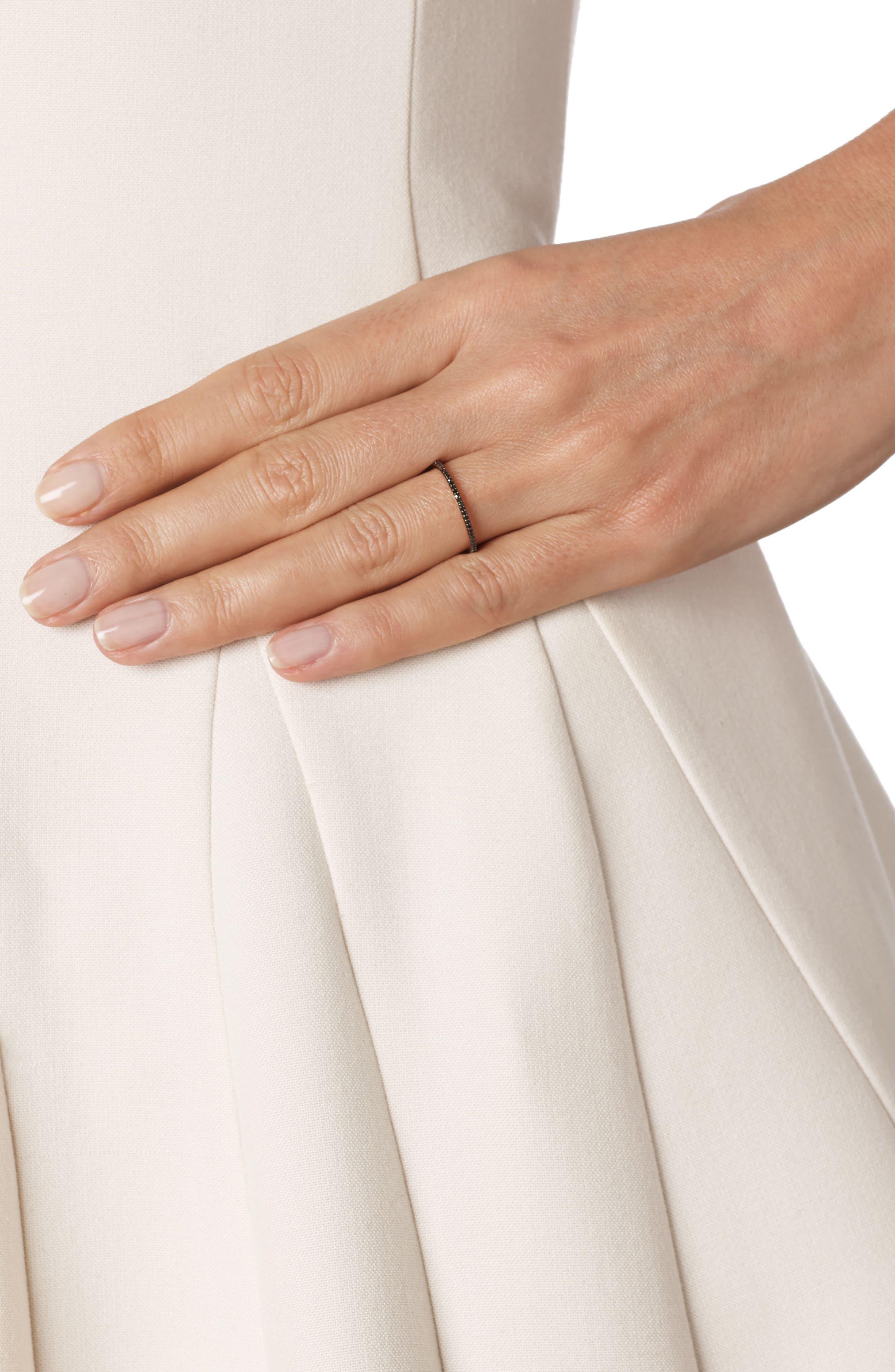 Diamond Eternity Ring,                             Alternate thumbnail 2, color,                             ROSE GOLD/ BLACK DIAMOND