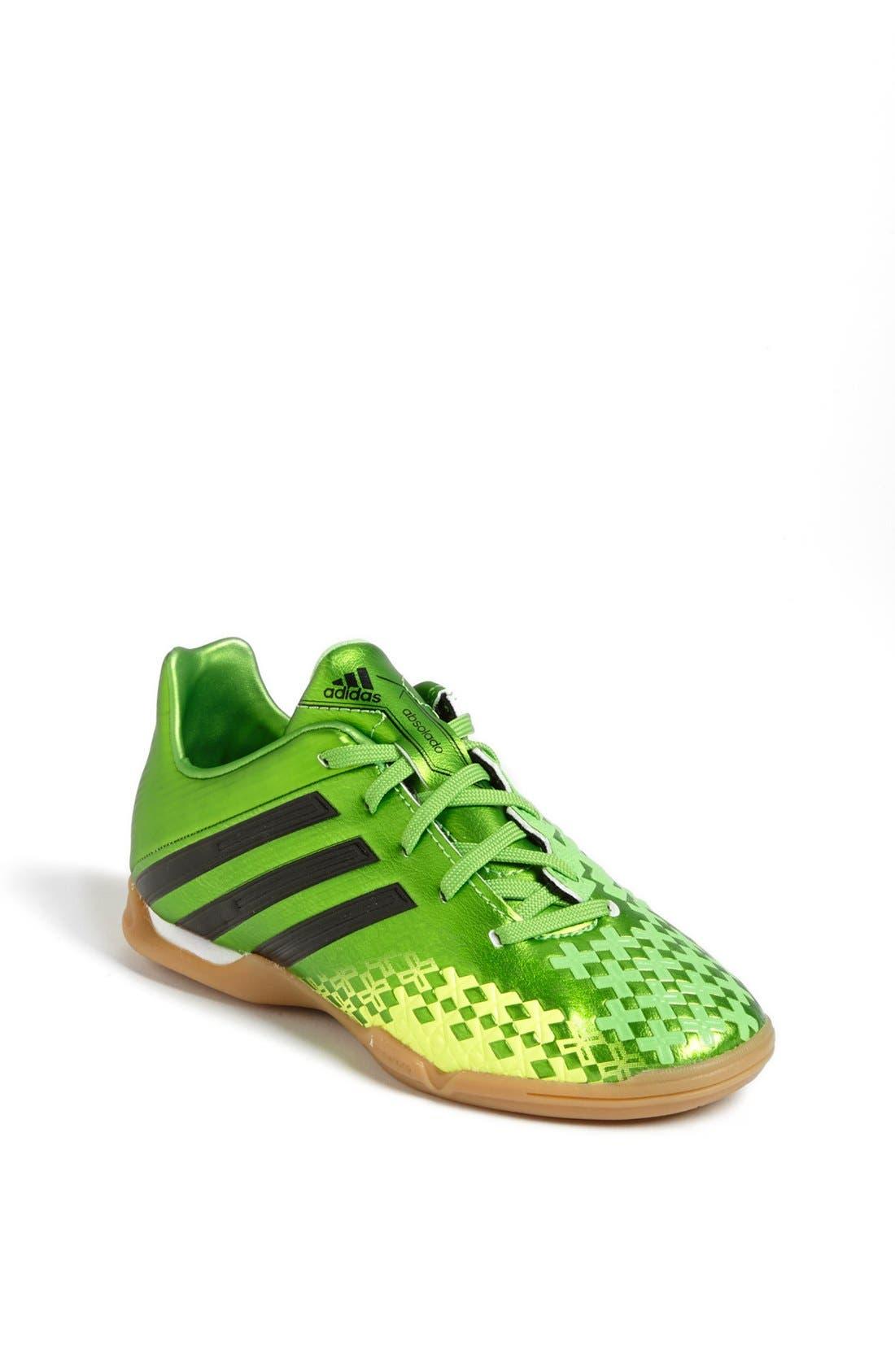 ADIDAS,                             'Predator Absolado LZ' Indoor Soccer Shoe,                             Main thumbnail 1, color,                             301