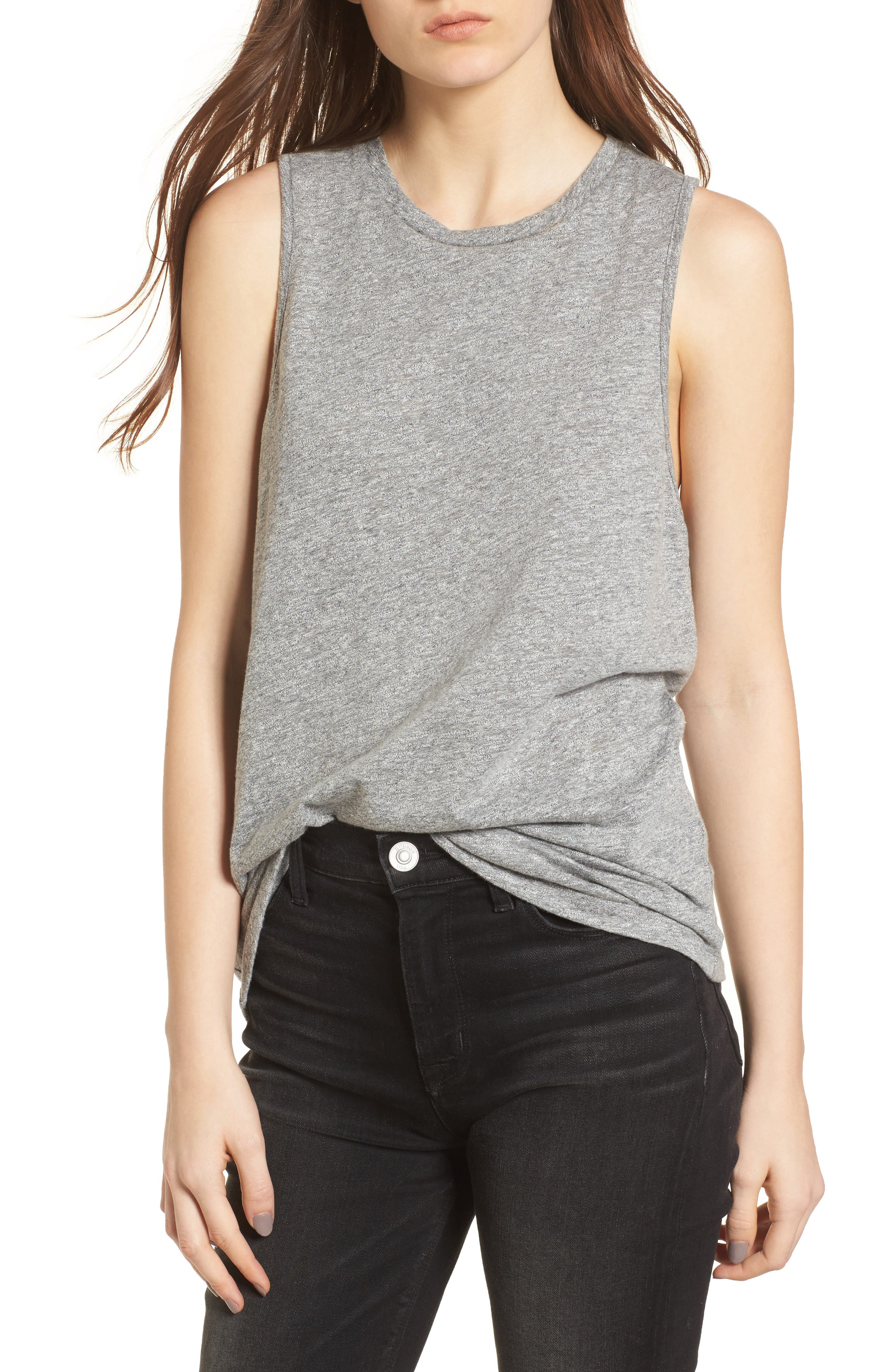 Serena Tank,                         Main,                         color, SPECKLED HEATHER GRAY