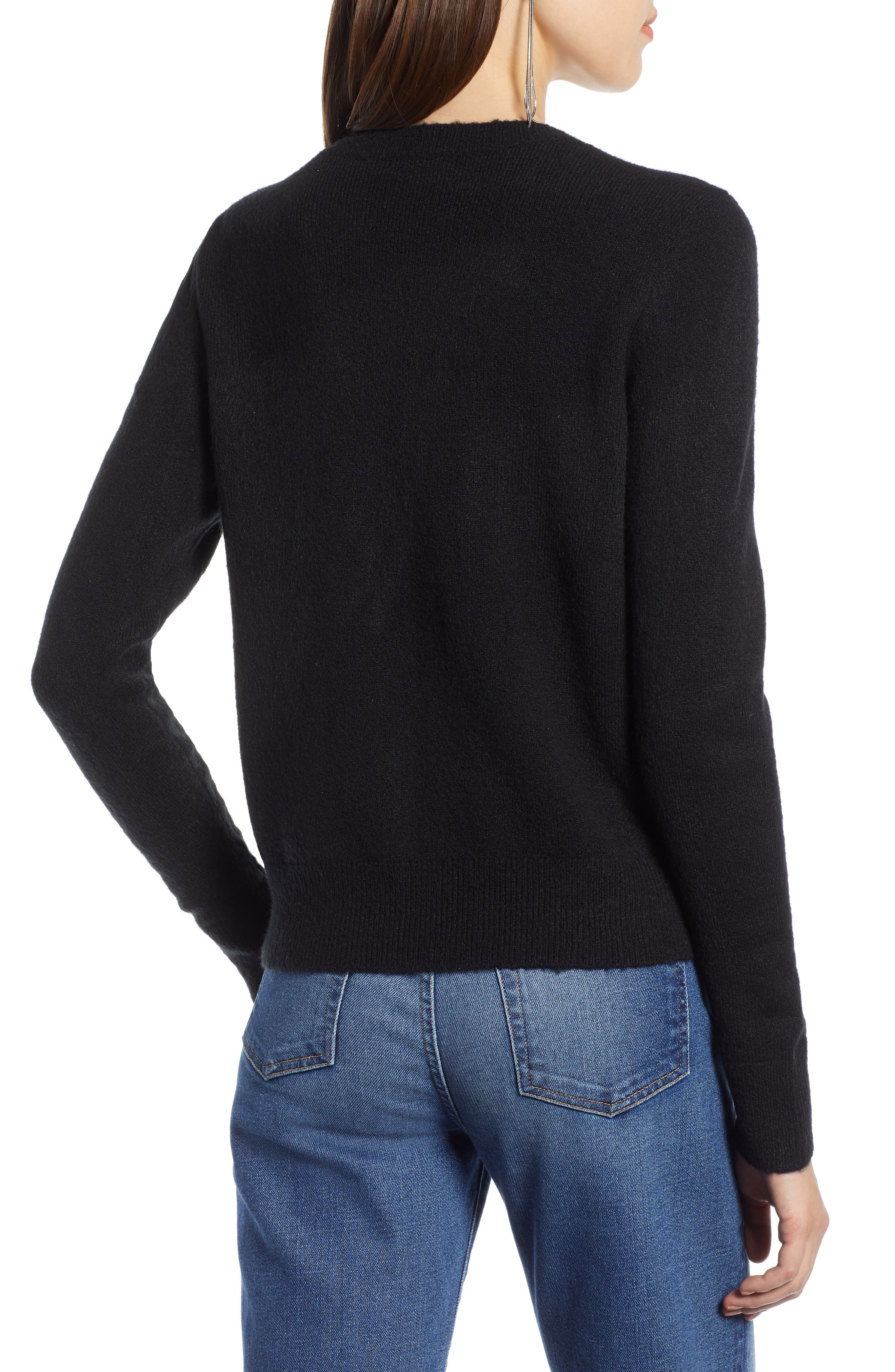 Embellished Sweater,                             Alternate thumbnail 2, color,                             001