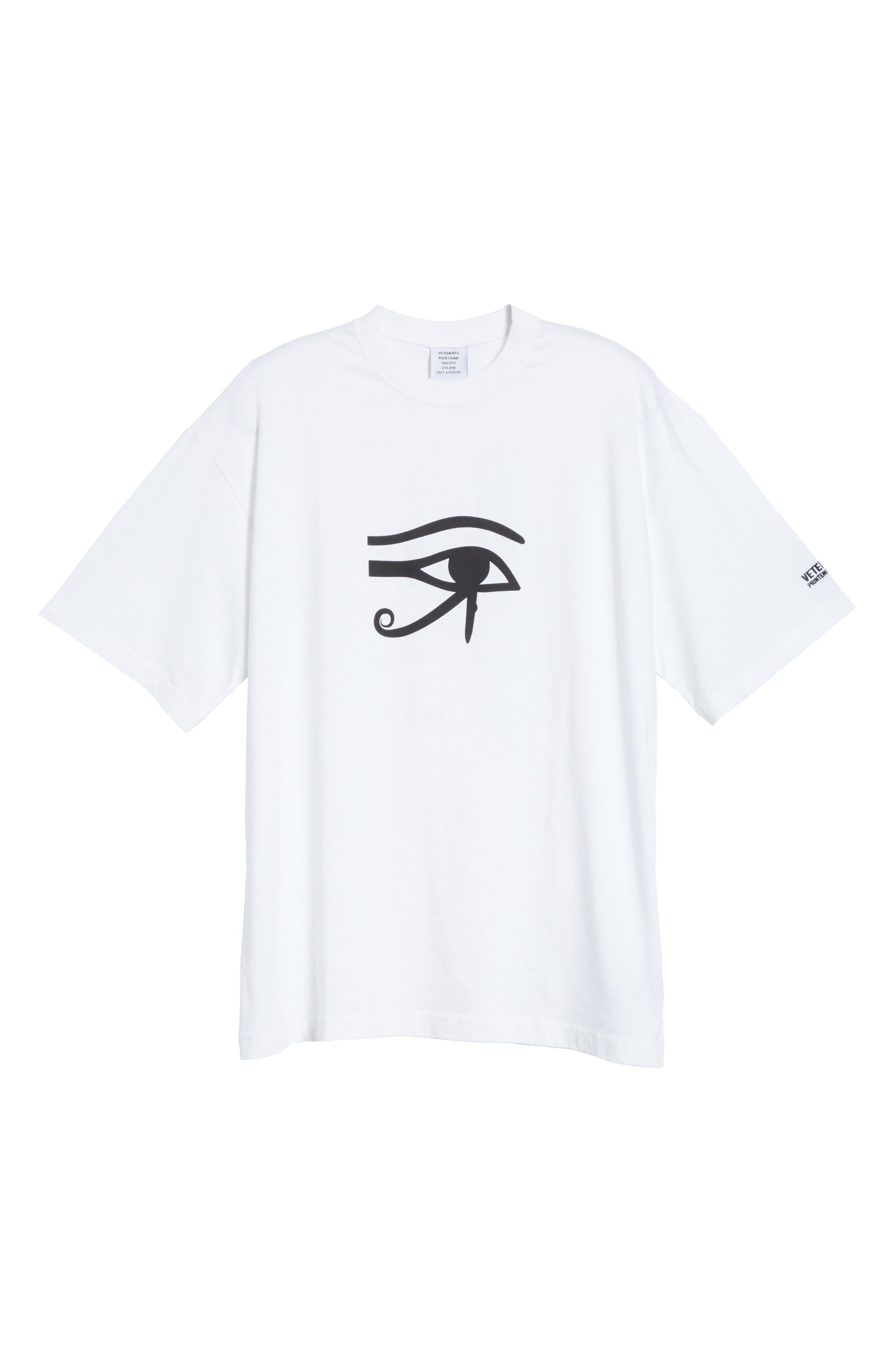 Eye of Horus Cotton Tee,                             Alternate thumbnail 6, color,