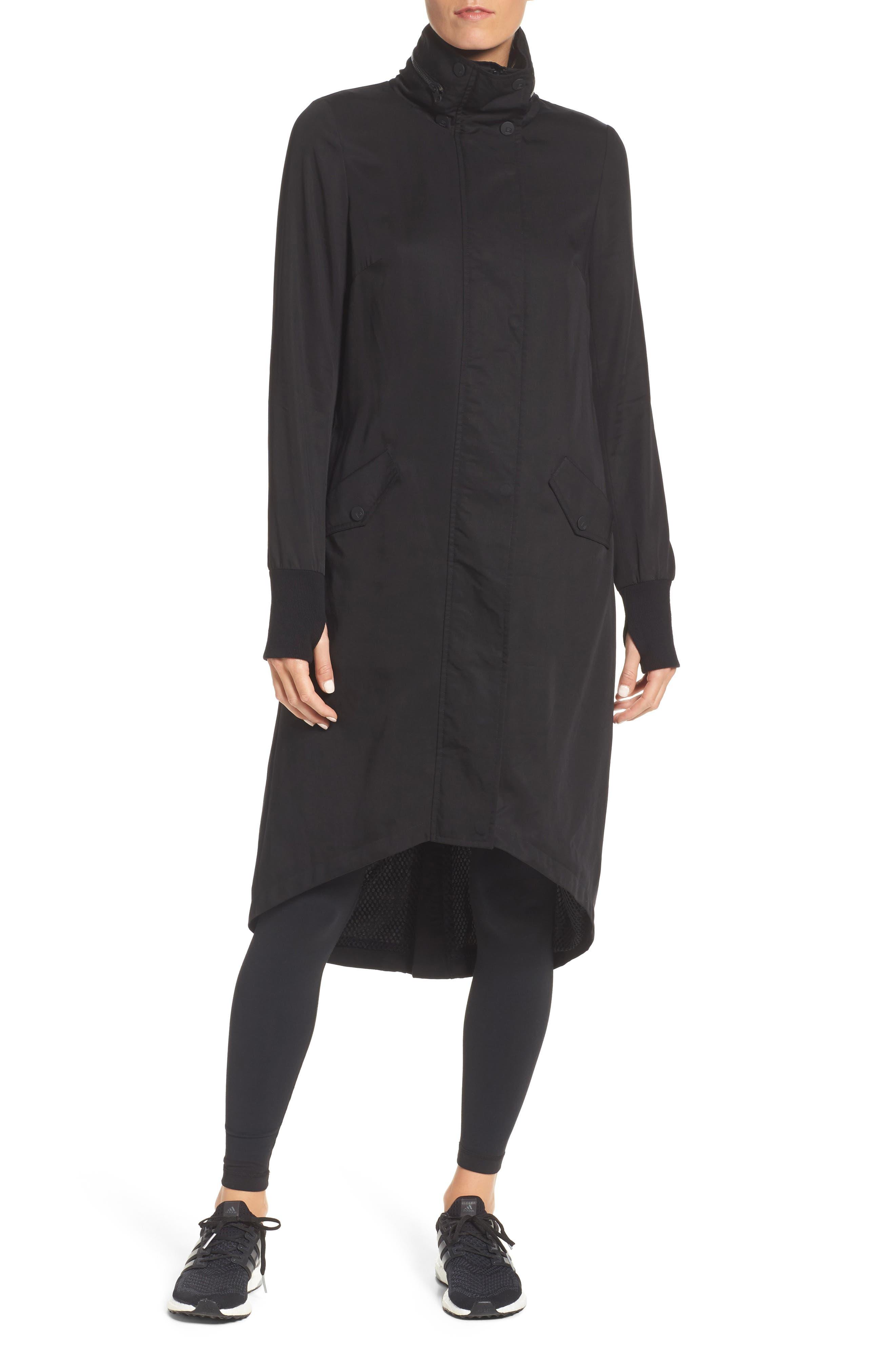 Blank Noir Hooded Water Resistant Anorak,                             Main thumbnail 1, color,                             BLACK