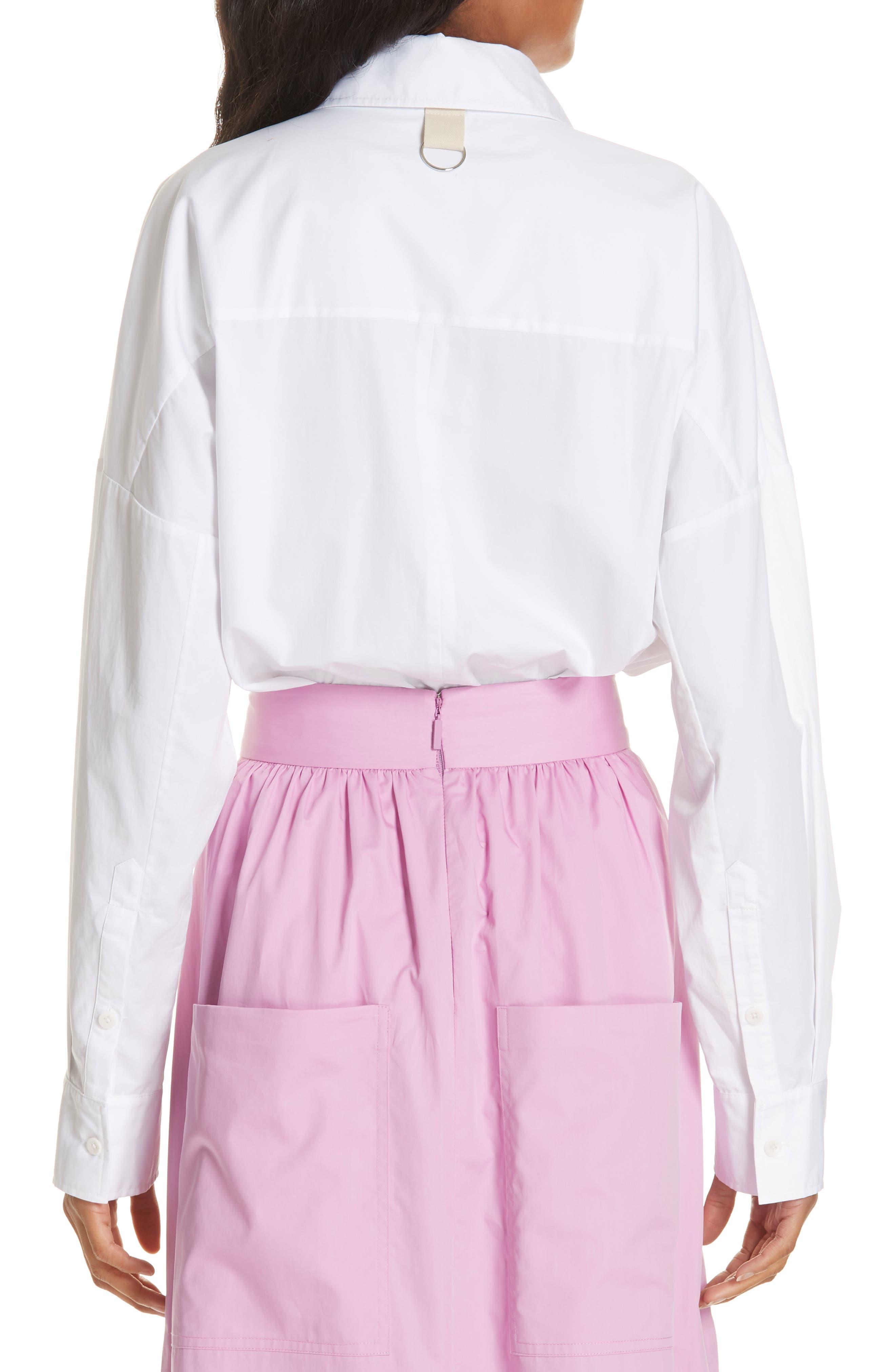 Oversize Poplin Shirt,                             Alternate thumbnail 2, color,                             WHITE