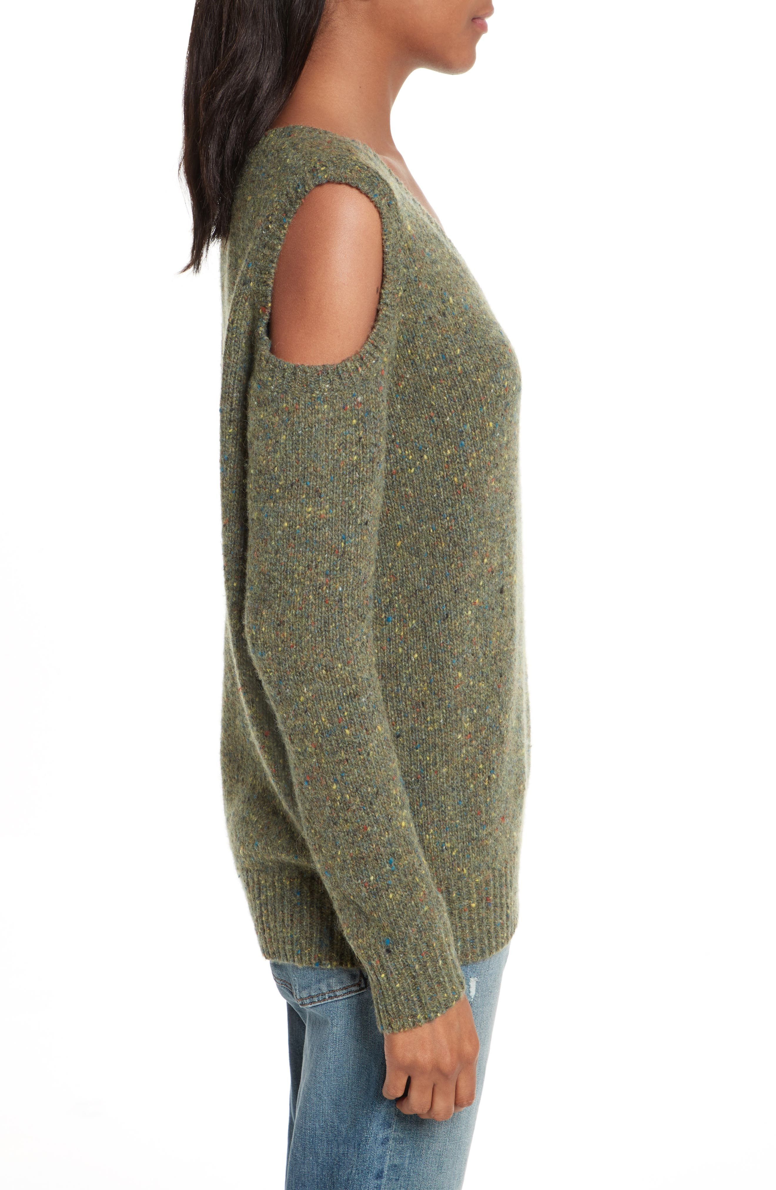 Page Cold Shoulder Sweater,                             Alternate thumbnail 18, color,