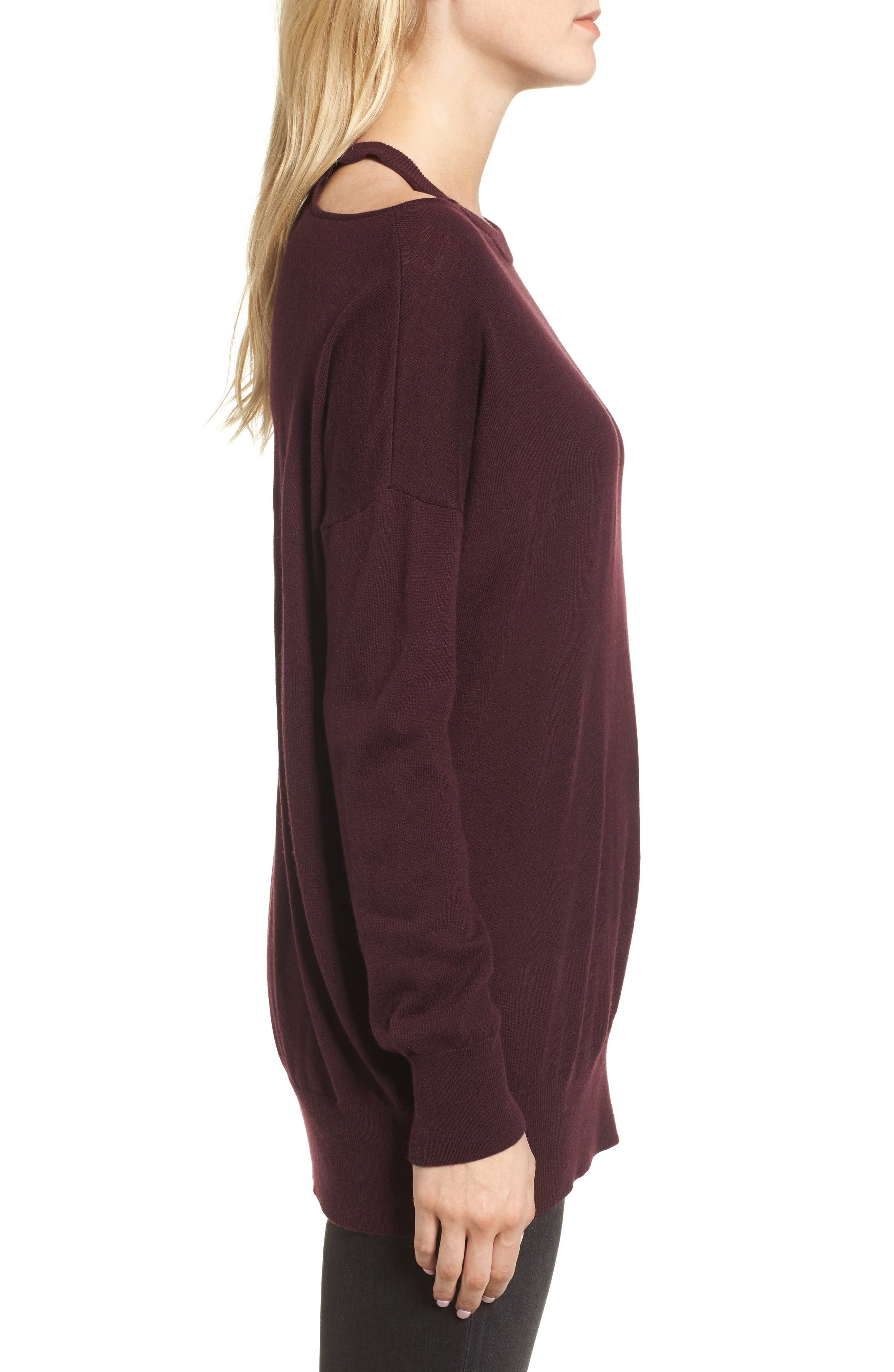 Canarise Cutout Sweater,                             Alternate thumbnail 6, color,