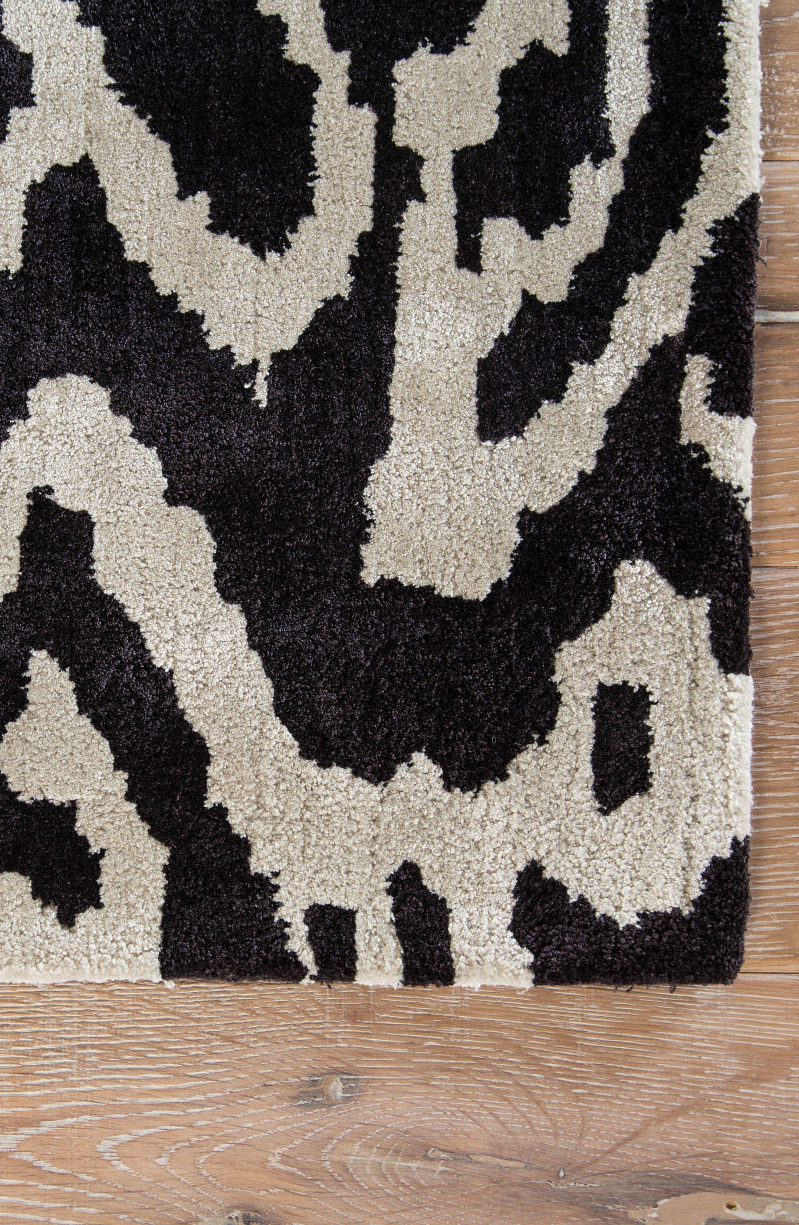 greenpoint caviar rug,                             Alternate thumbnail 2, color,                             001