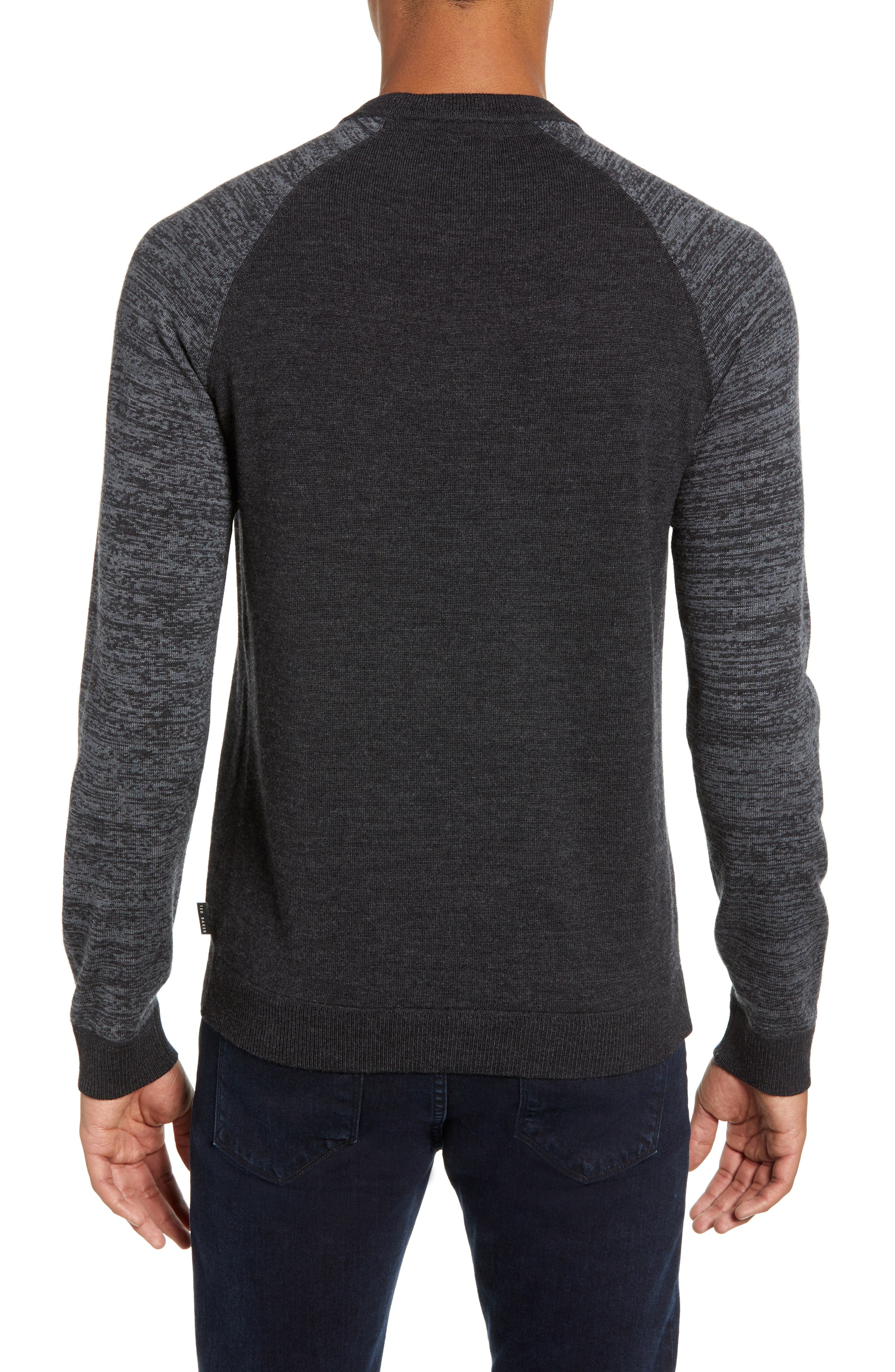 Cornfed Slim Fit Sweater,                             Alternate thumbnail 2, color,                             CHARCOAL