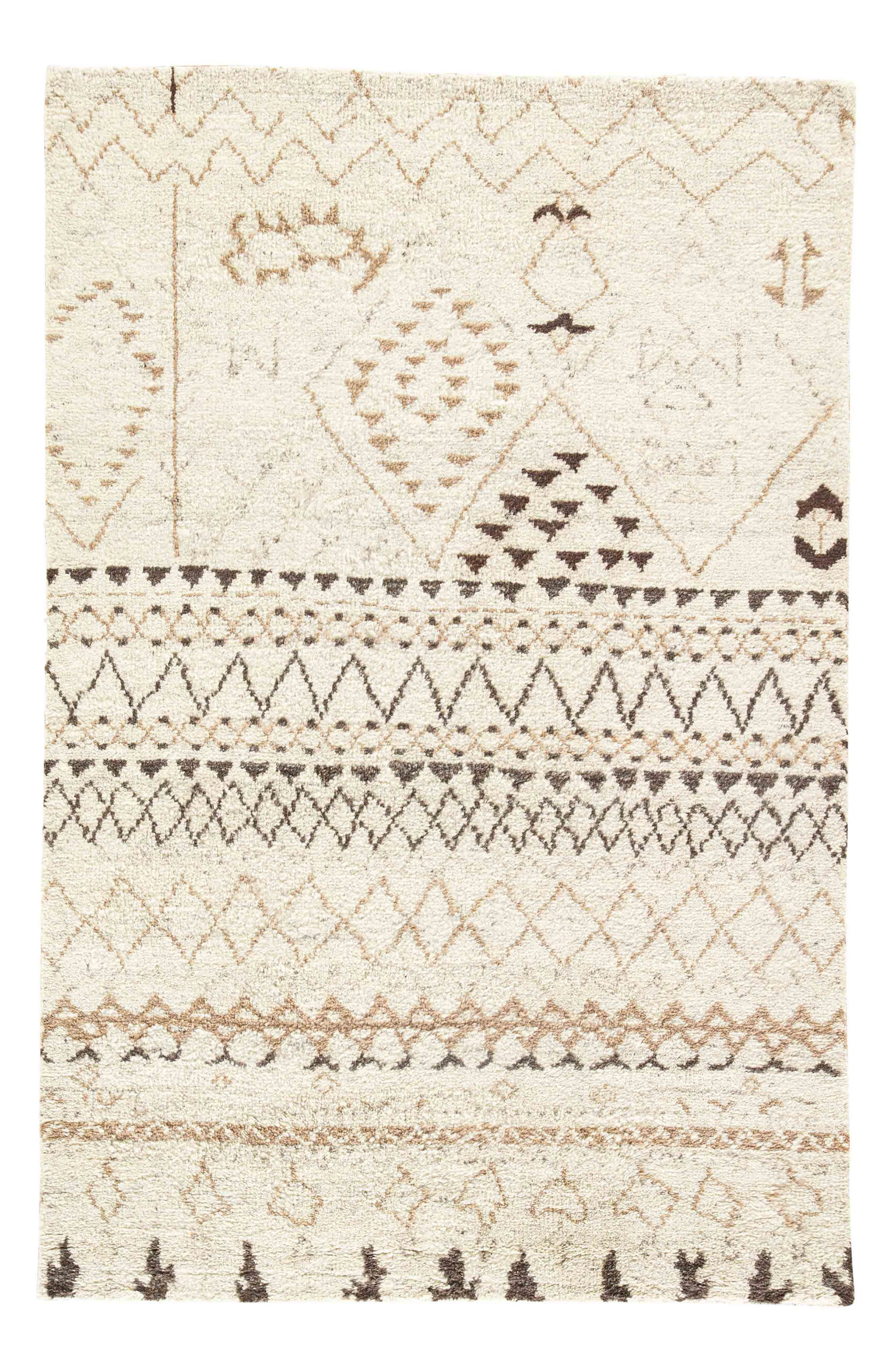 'Zola Zag' Wool Area Rug,                         Main,                         color, IVORY/ TAUPE