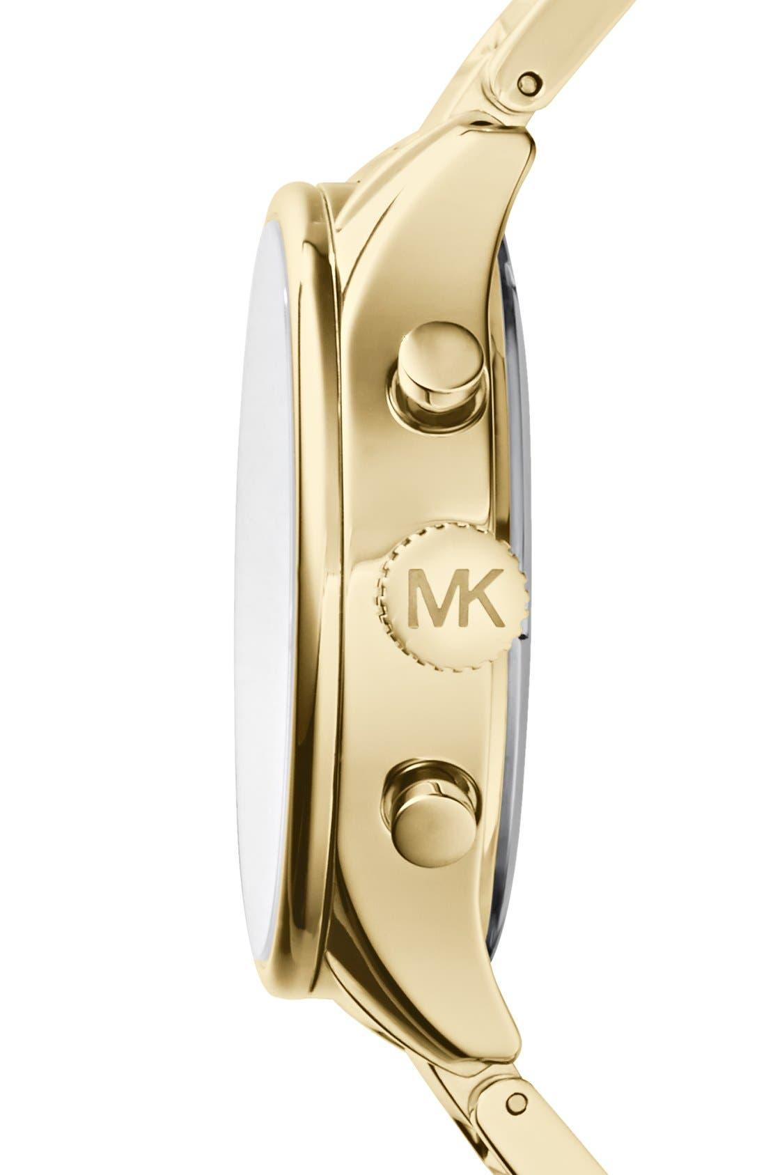 MICHAEL MICHAEL KORS,                             Michael Kors 'Bailey' Chronograph Bracelet Watch, 44mm,                             Alternate thumbnail 2, color,                             710