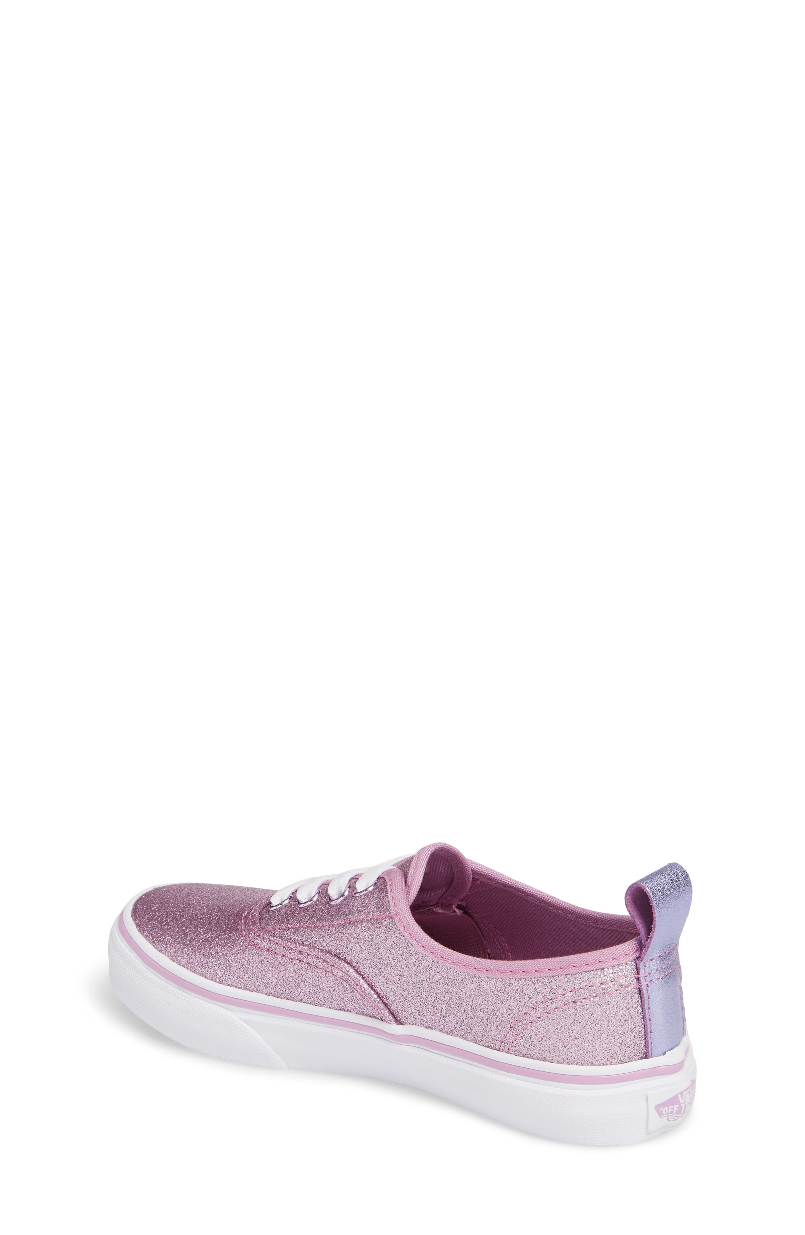 Glitter Authentic Elastic Lace Sneaker,                             Alternate thumbnail 2, color,