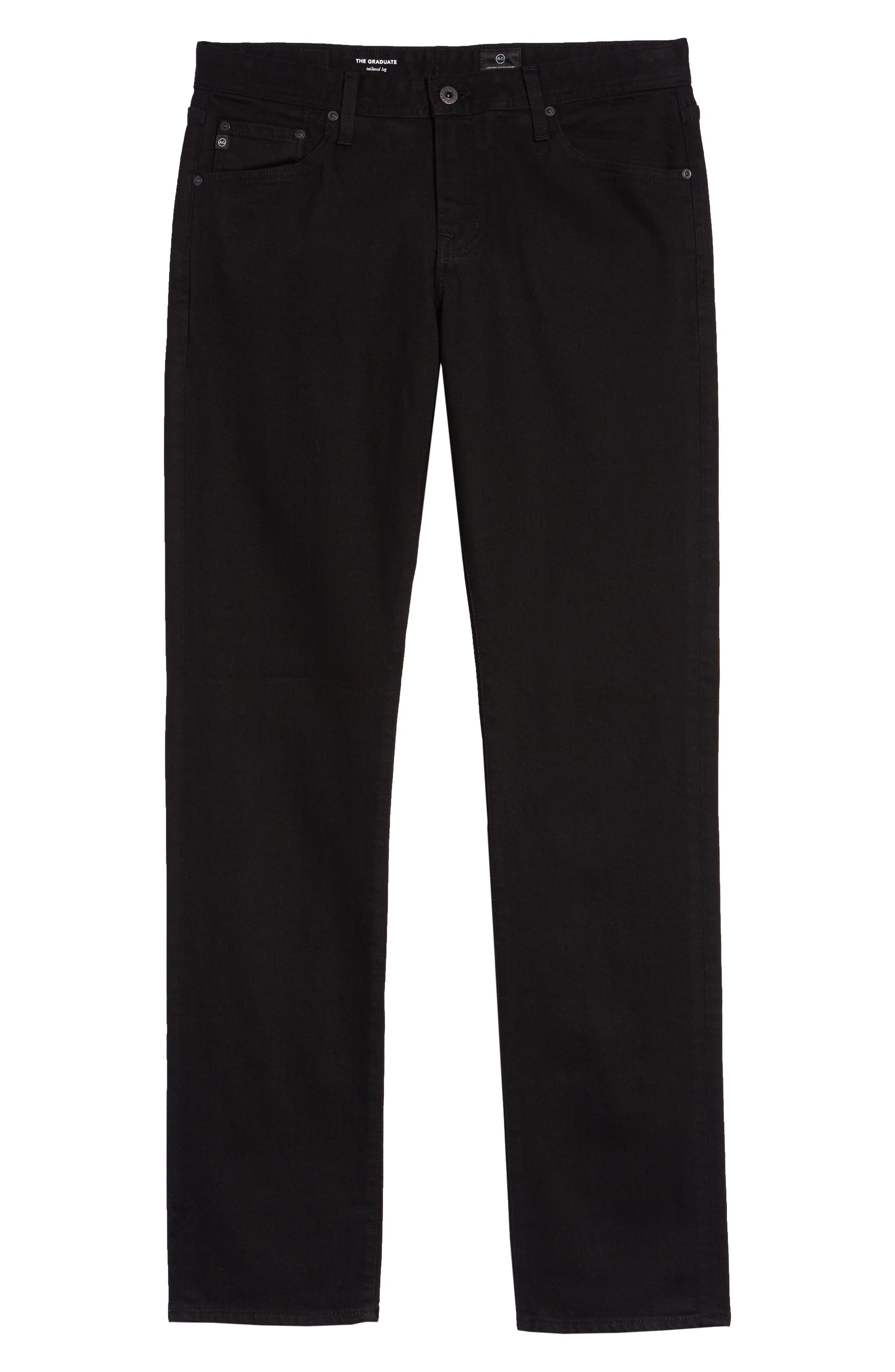 Graduate Slim Straight Leg Jeans,                             Alternate thumbnail 2, color,                             BLACKBIRD