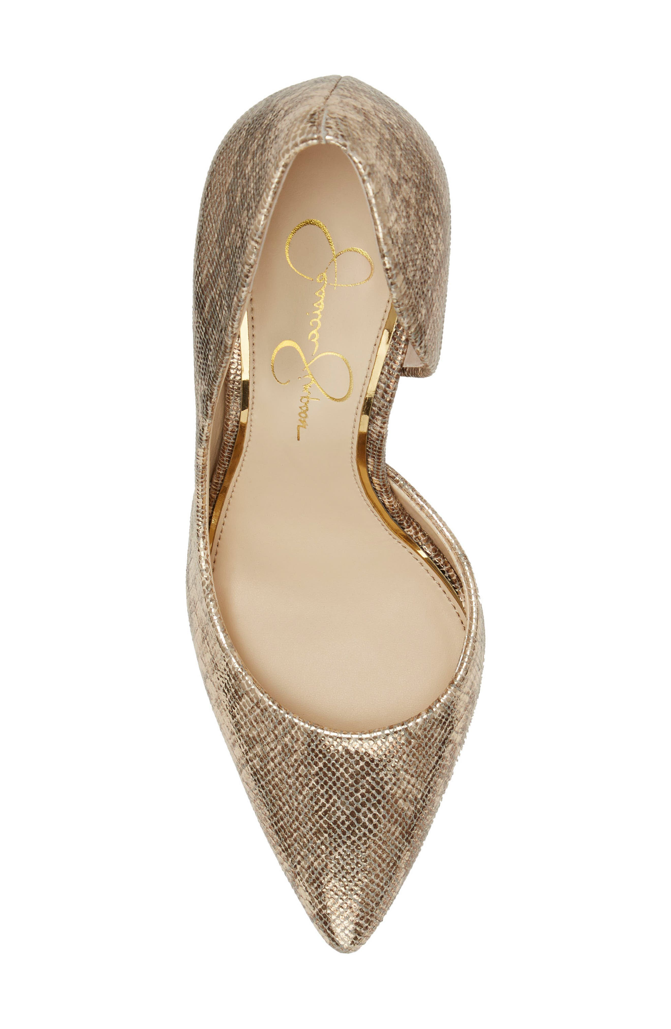JESSICA SIMPSON,                             Pheona Pump,                             Alternate thumbnail 4, color,                             KARAT GOLD