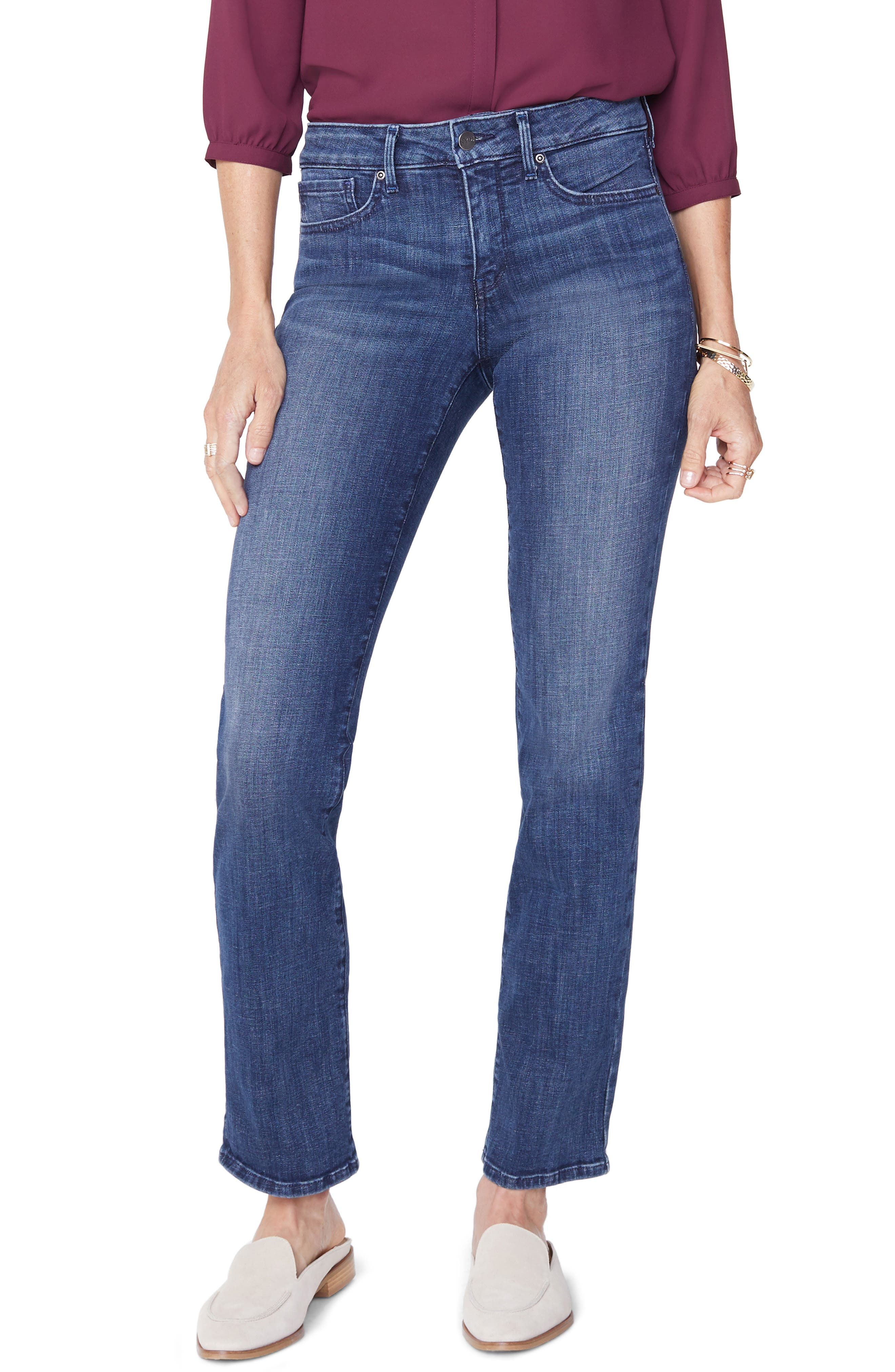 Marilyn Straight Leg Jeans, Main, color, LUPINE