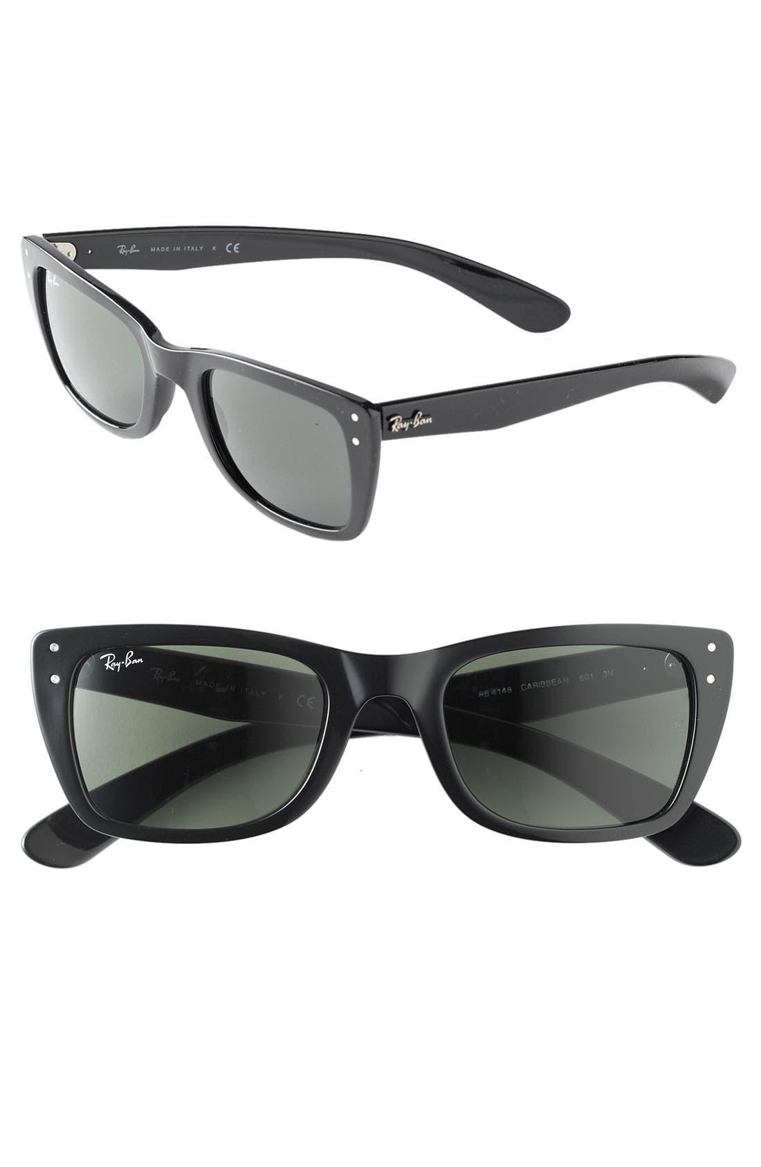 'Caribbean' Wayfarer Sunglasses, Main, color, 001
