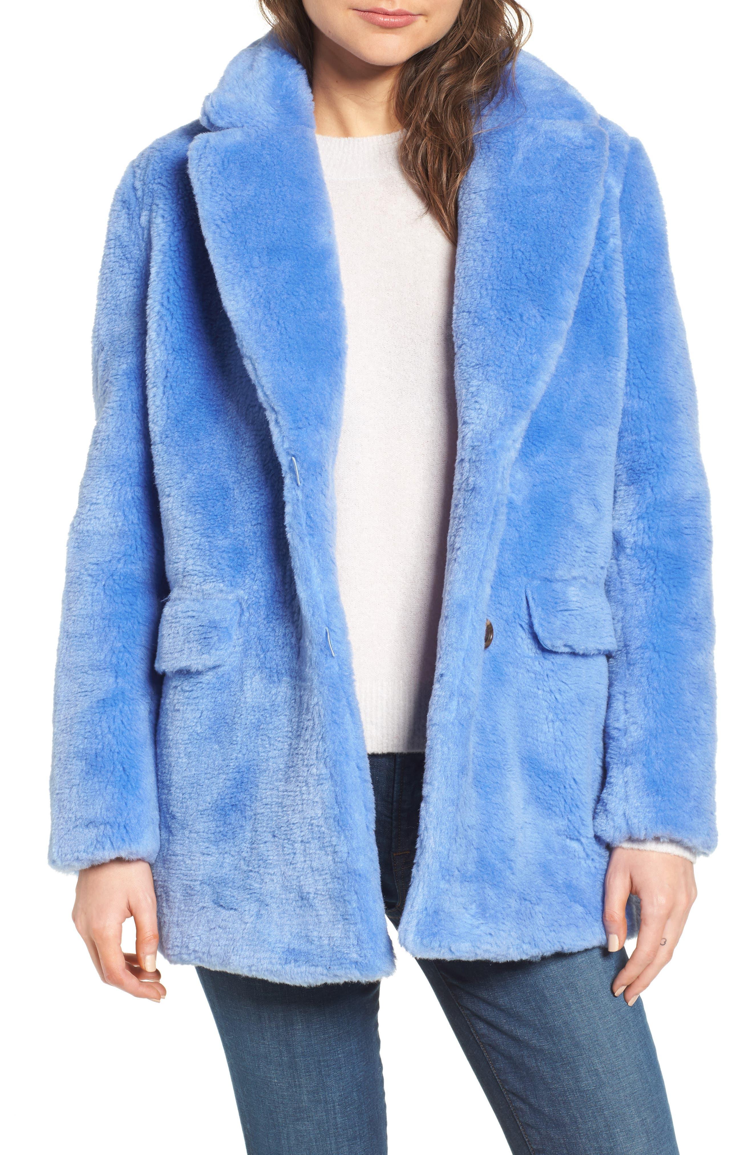 Yuna Teddy Faux Fur Jacket,                             Main thumbnail 1, color,