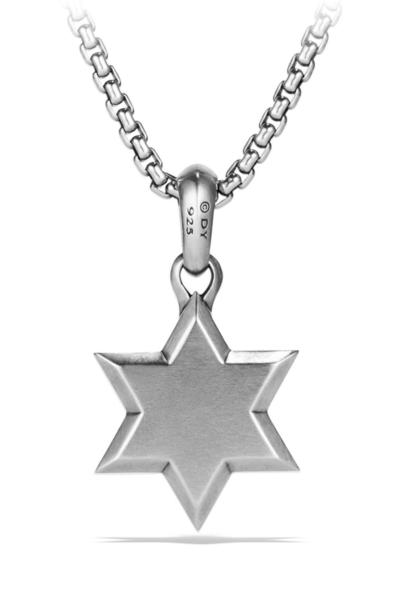 Star of David Amulet,                             Alternate thumbnail 3, color,                             SILVER