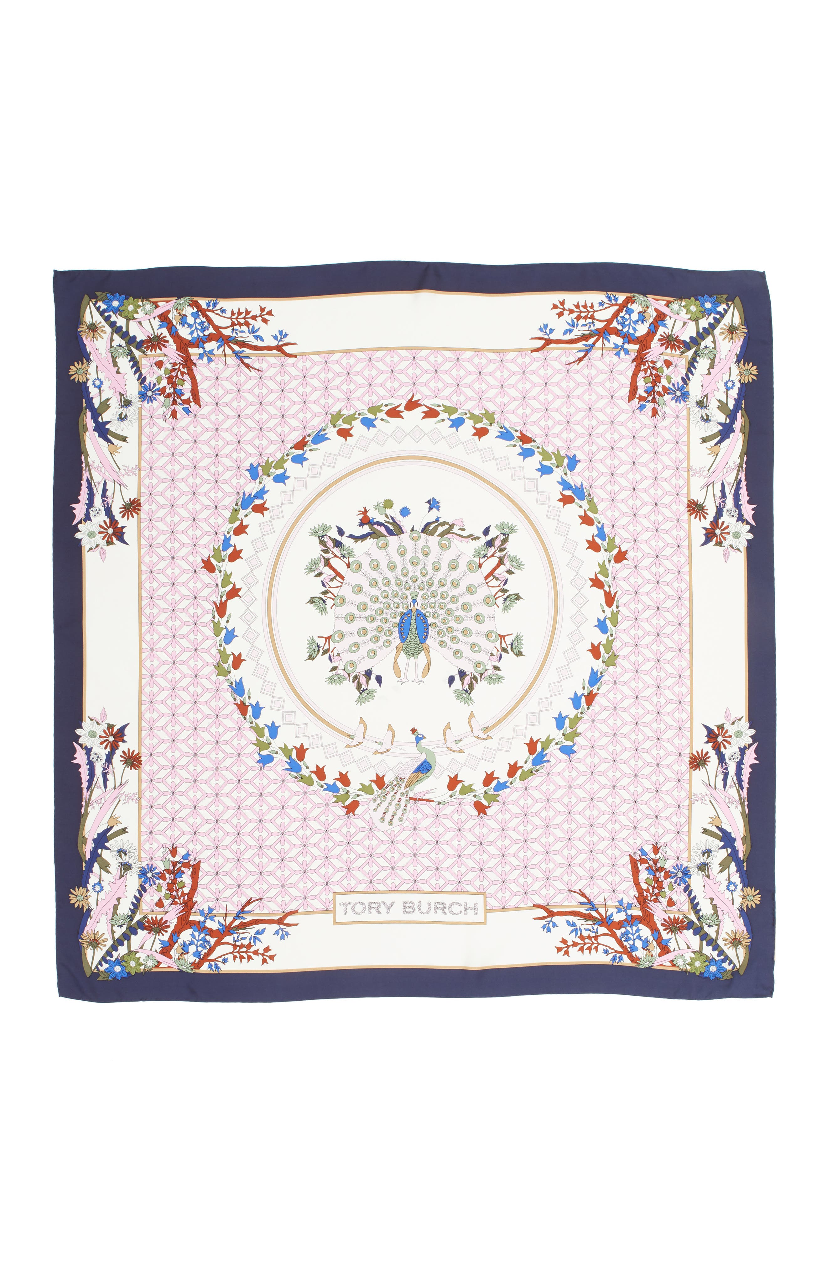 Meadow Folly Silk Square Scarf,                             Alternate thumbnail 5, color,
