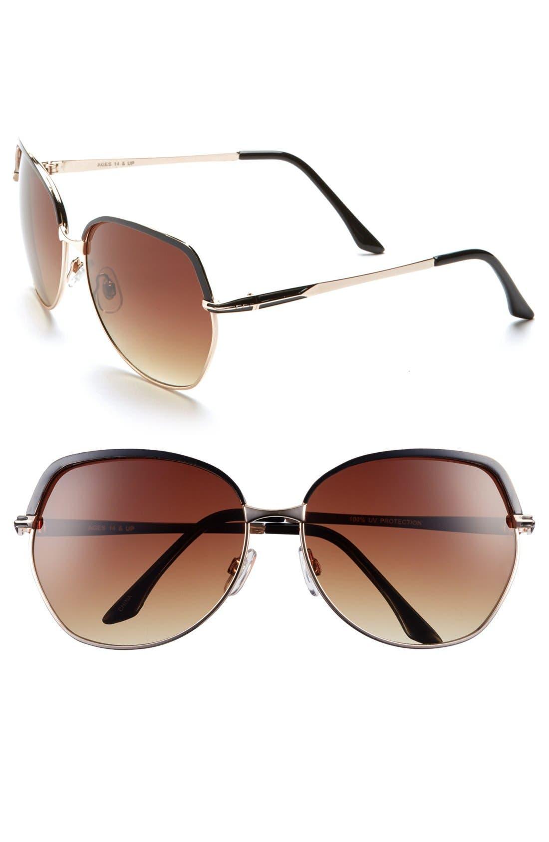 FANTASEYES Fantas Eyes 'Incognito' 62mm Sunglasses, Main, color, 001
