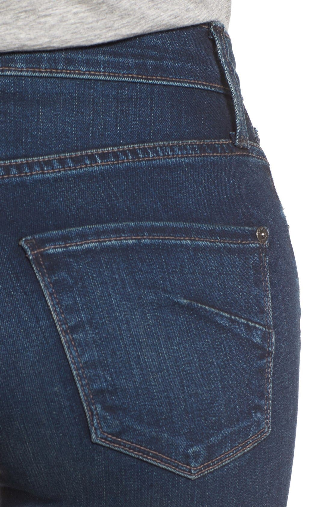 JAMES JEANS,                             'Shayebel' Flare Denim Trousers,                             Alternate thumbnail 4, color,                             401