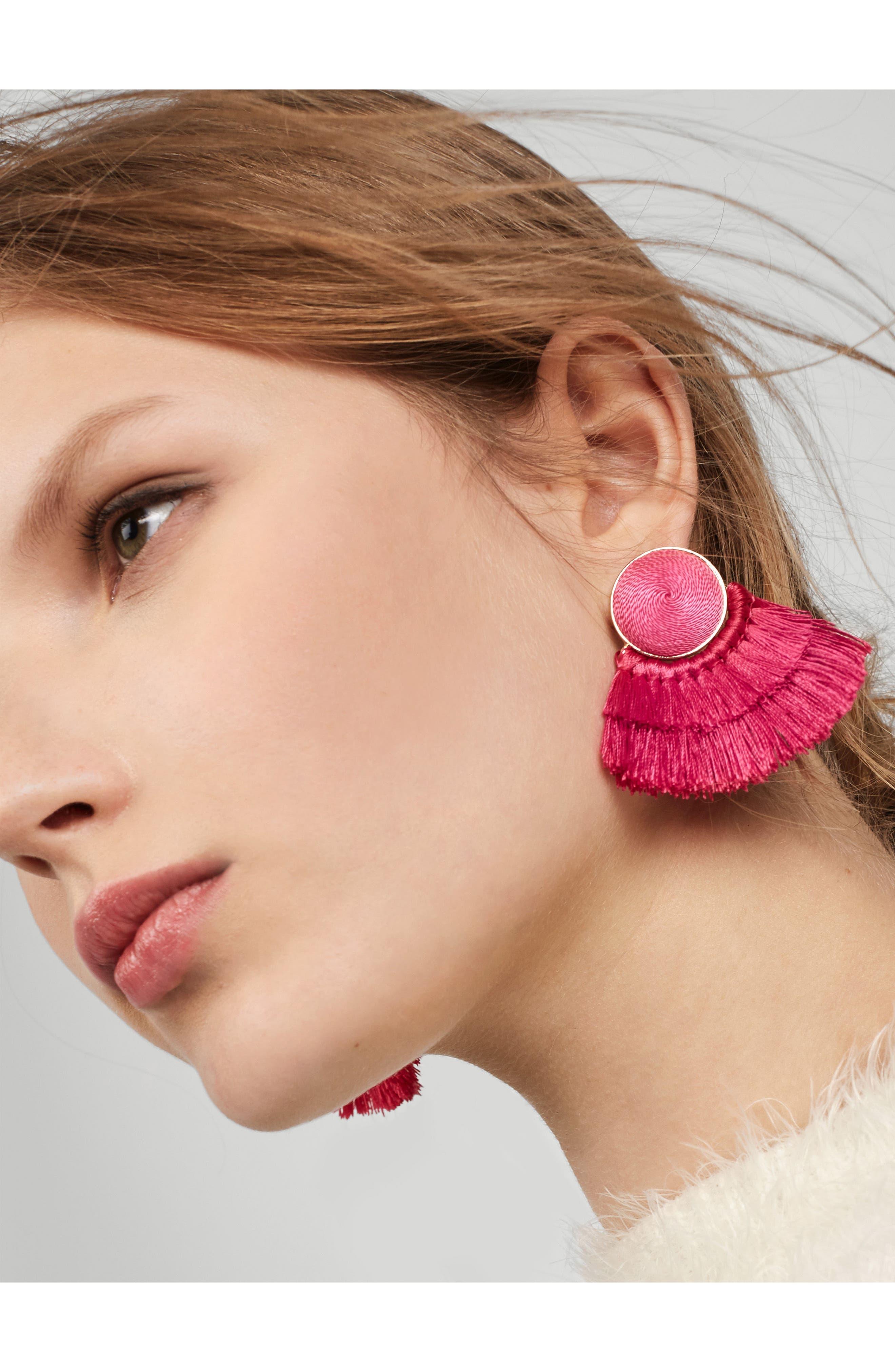 Martina Chubby Deco Fringe Drop Earrings,                             Alternate thumbnail 6, color,