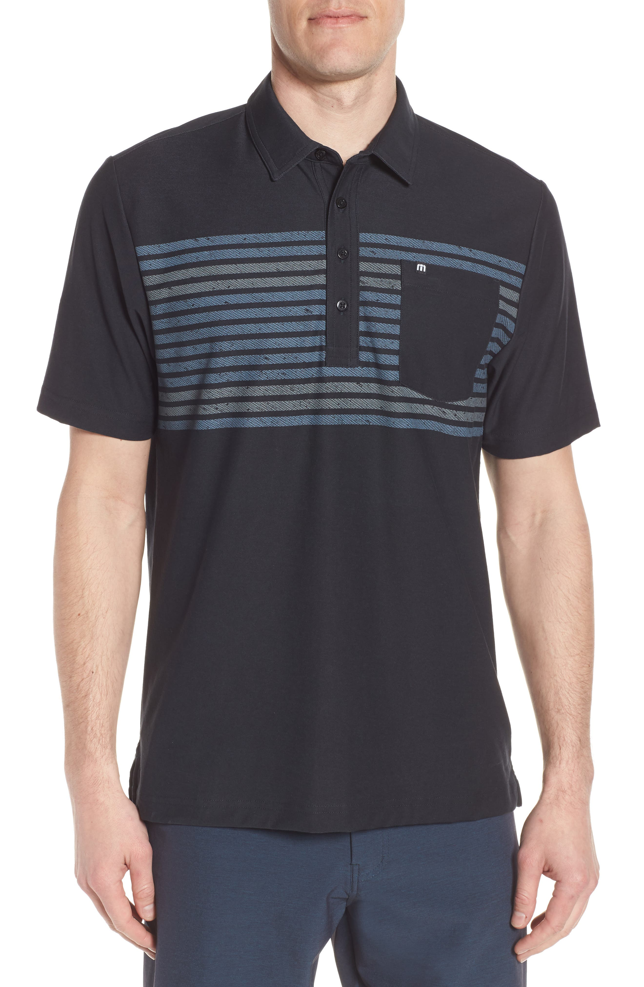 Sweet Lu Regular Fit Polo,                             Main thumbnail 1, color,                             BLACK/ GRISAILLE