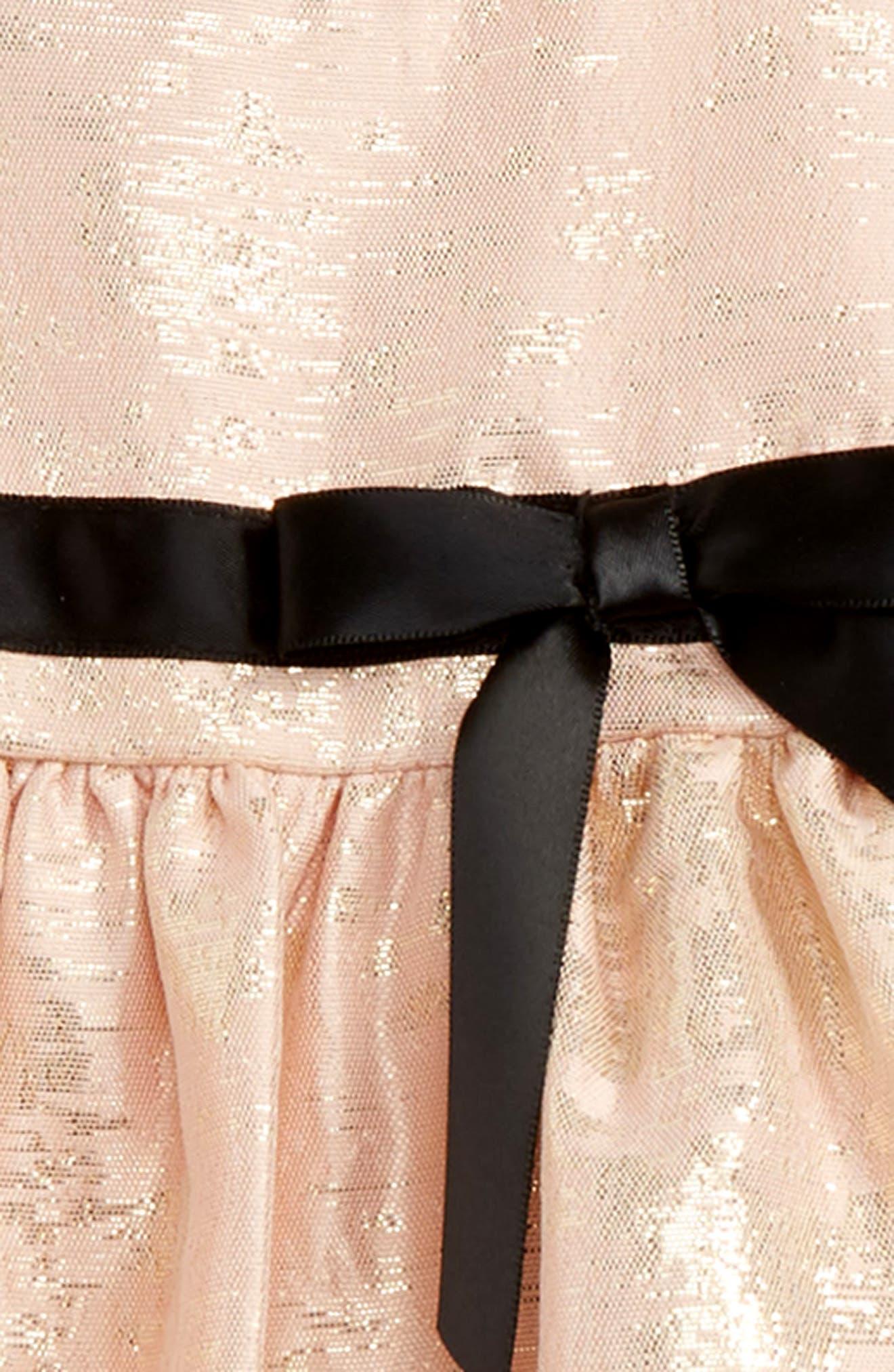 Shimmer Fit & Flare Dress,                         Main,                         color, 680