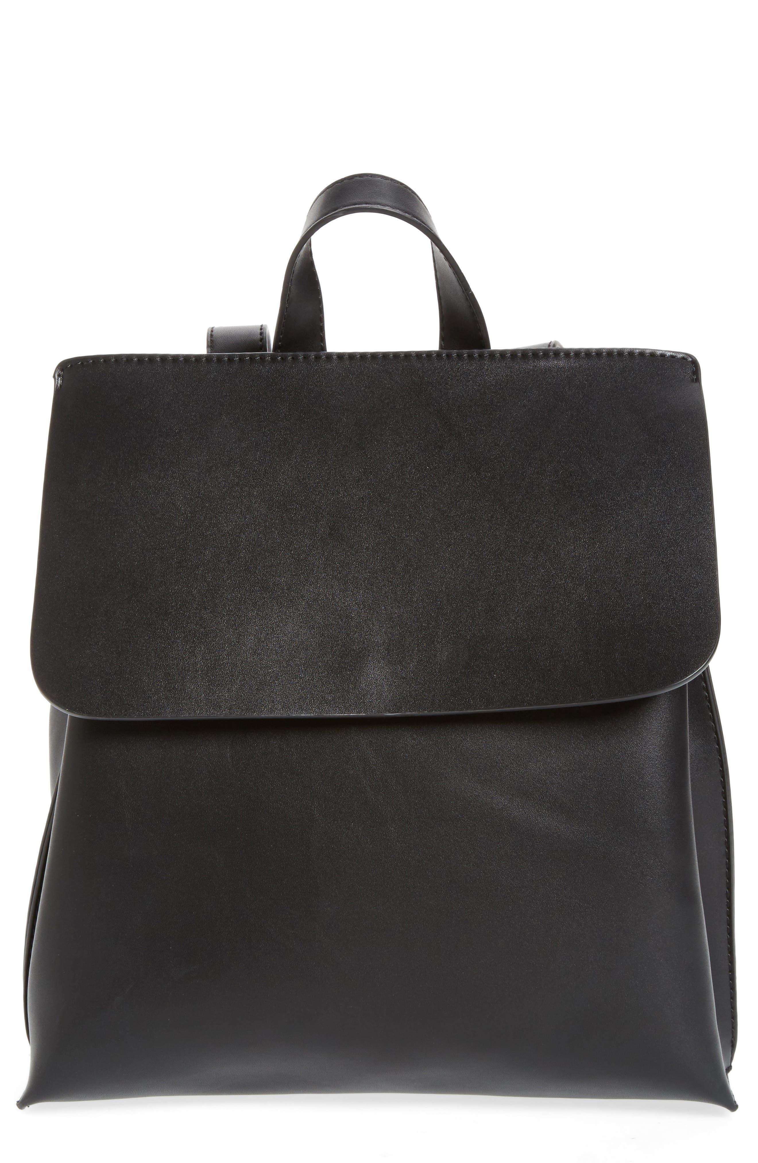 Selena Faux Leather Backpack,                             Alternate thumbnail 6, color,