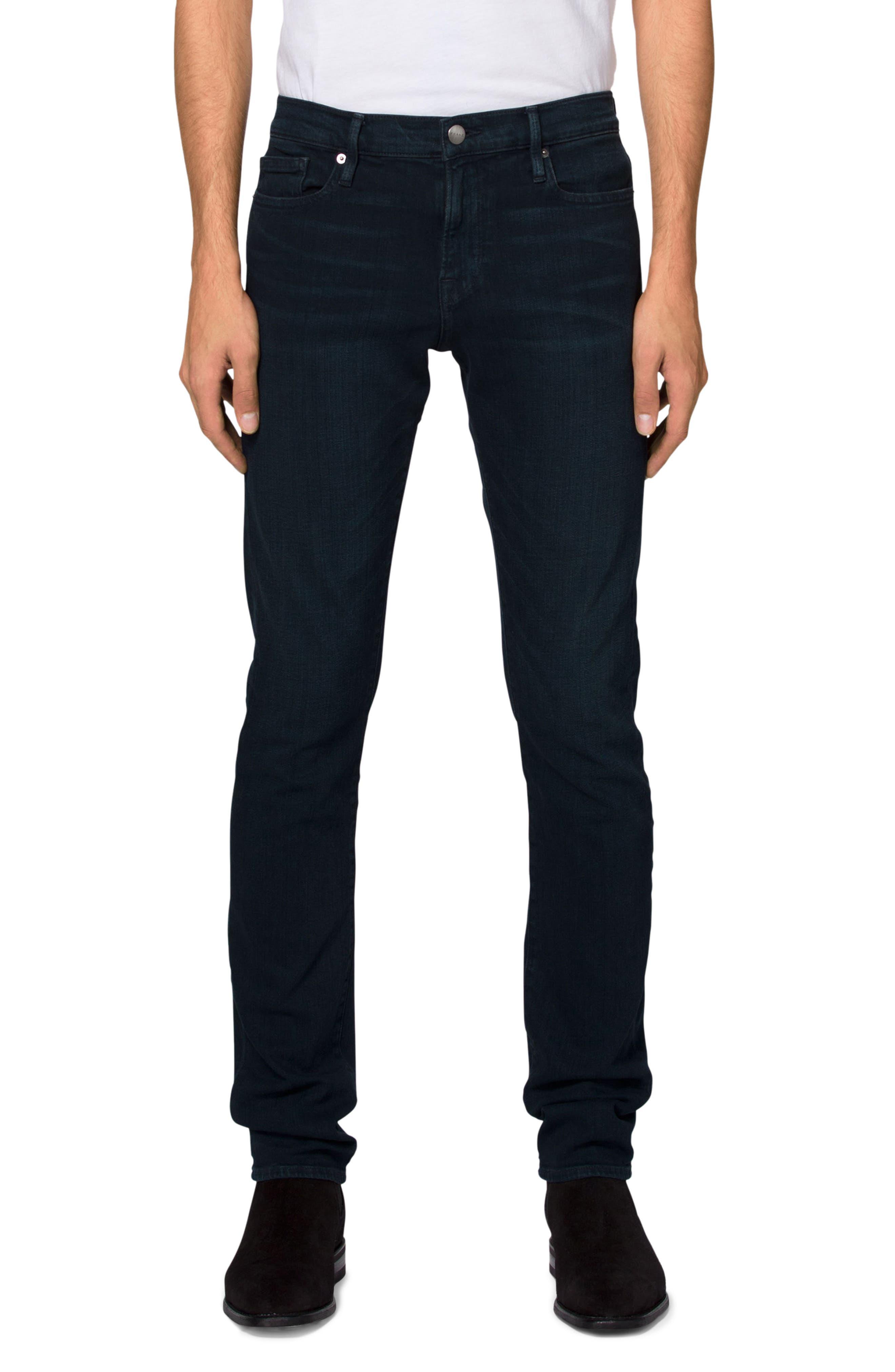 'L'Homme' Slim Fit Jeans,                             Main thumbnail 1, color,                             PLACID