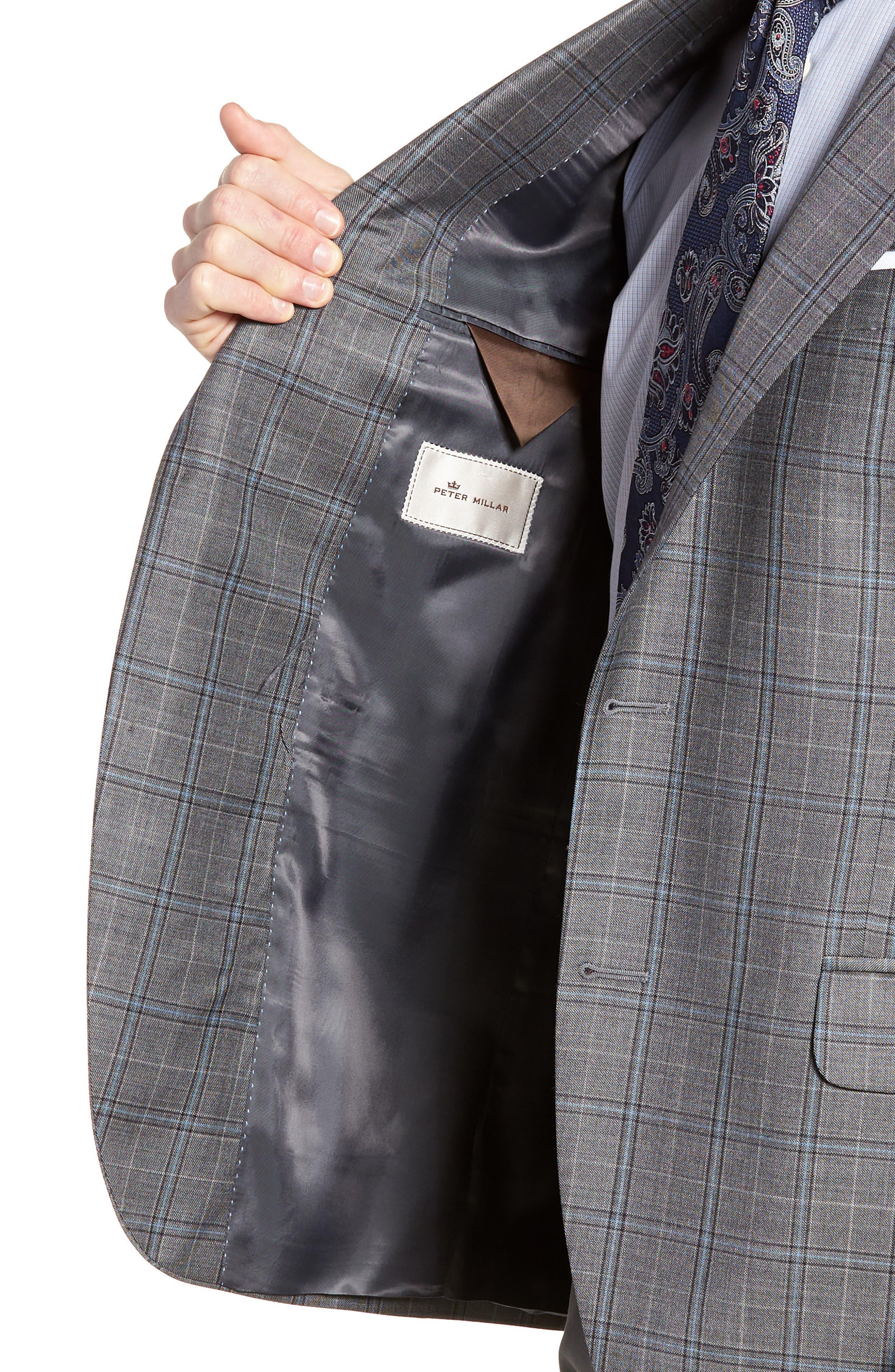 Classic Fit Plaid Wool Sport Coat,                             Alternate thumbnail 3, color,                             020