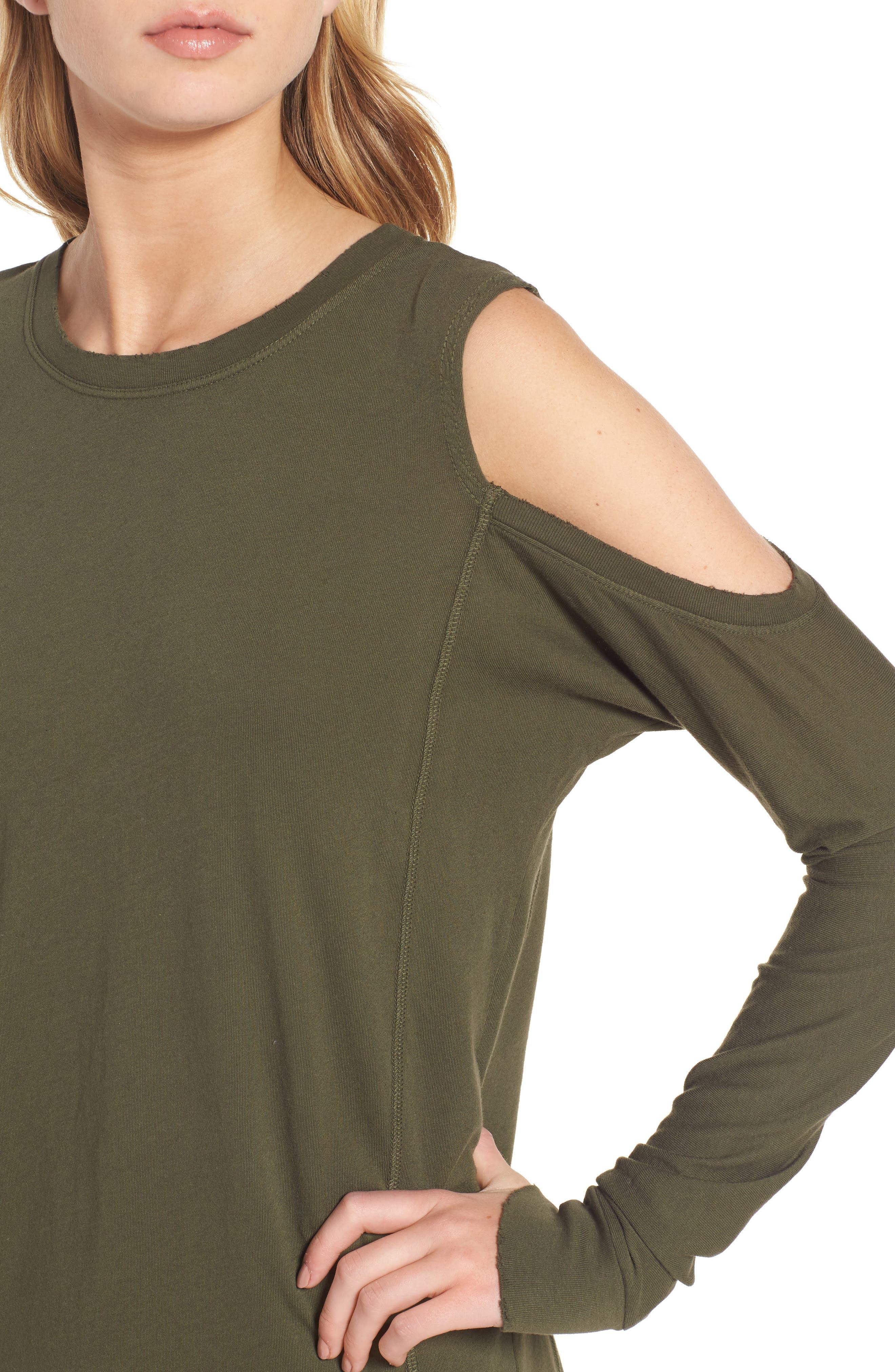 Billie Cold Shoulder Minidress,                             Alternate thumbnail 4, color,                             310