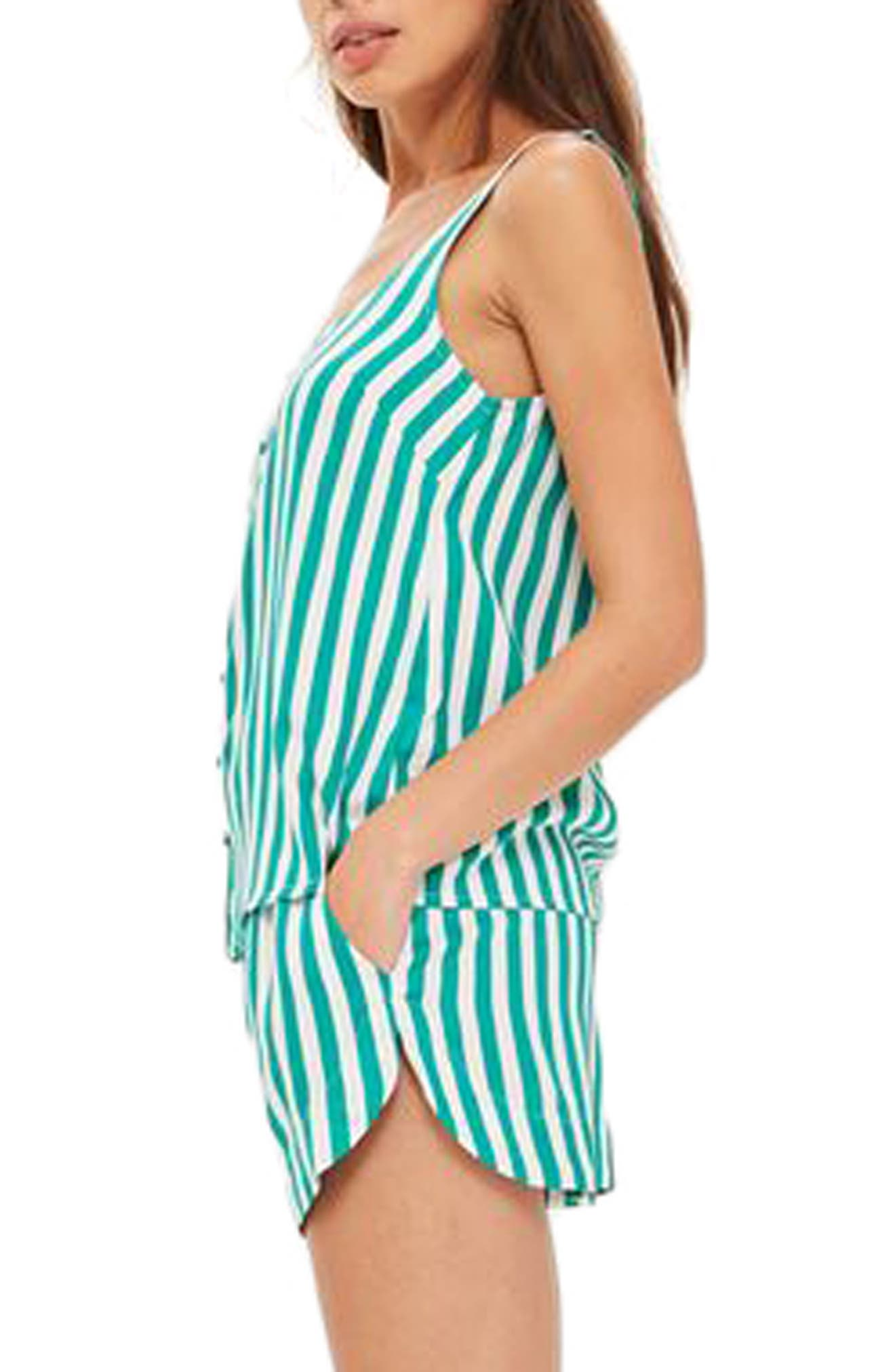 Humbug Stripe Short Pajamas,                             Alternate thumbnail 2, color,                             300